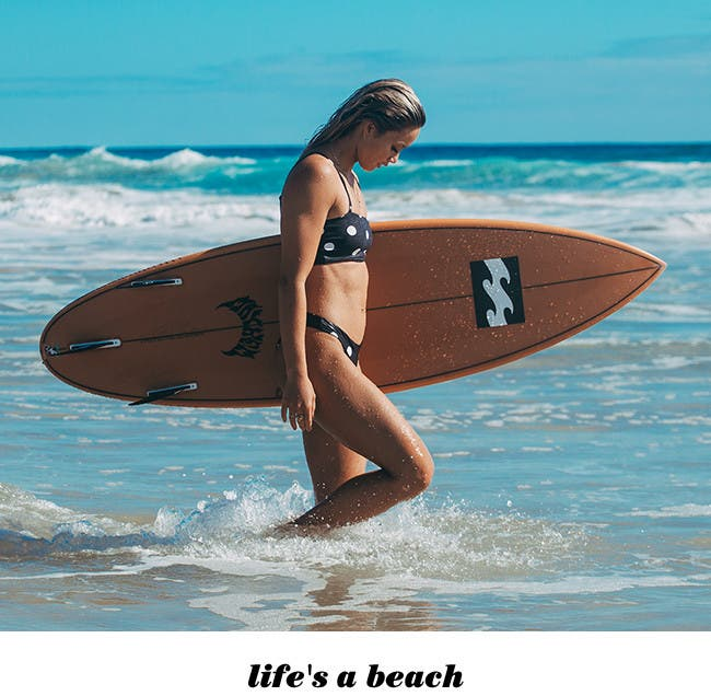 Life's a beach: interviews with female pro surfers.
