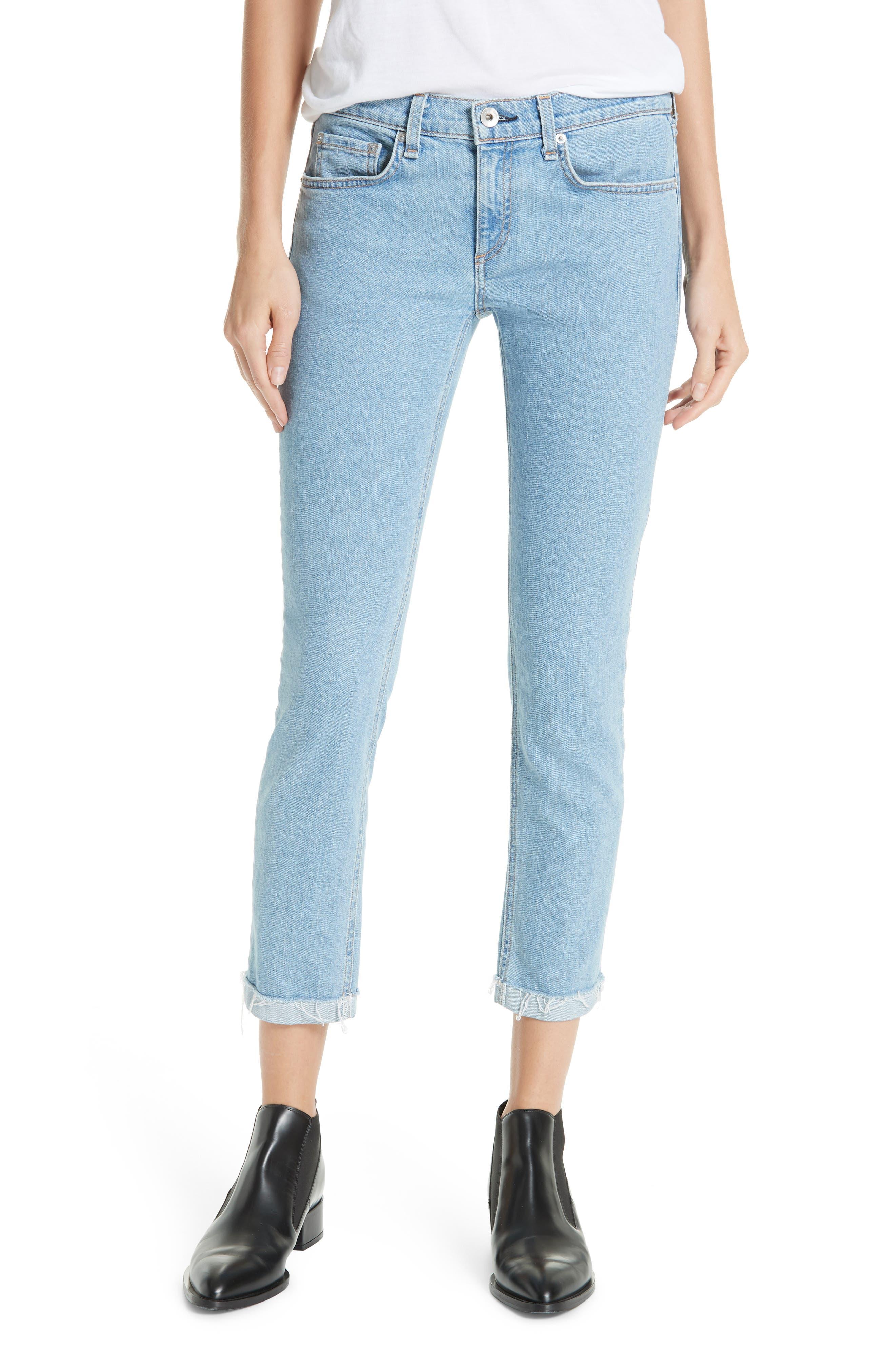 The Dre Ankle Slim Boyfriend Jeans,                         Main,                         color, CLEAN JUDI