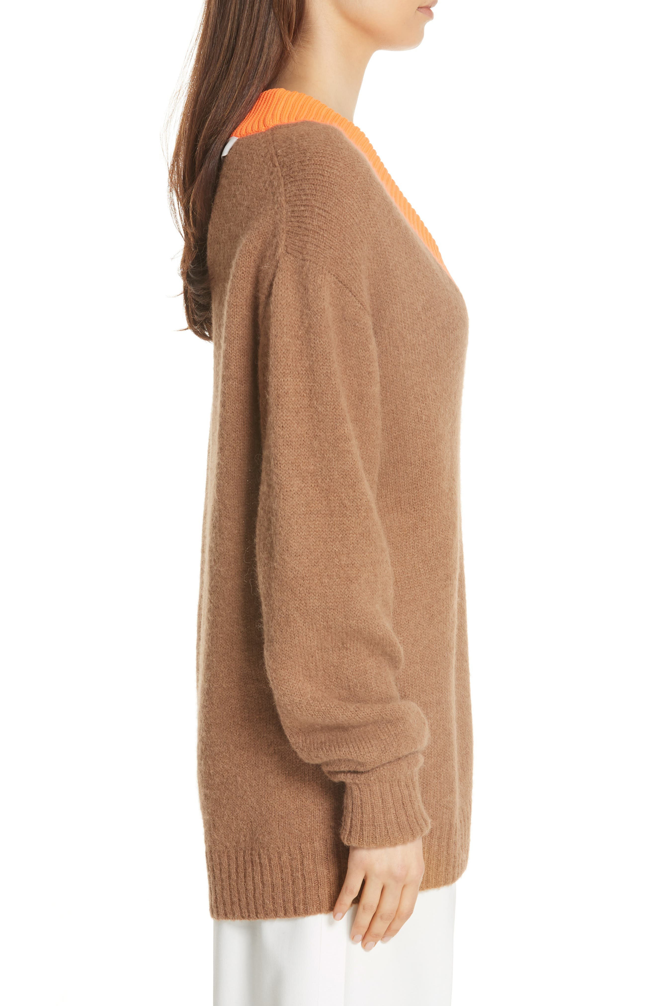 Airy Alpaca Blend Sweater,                             Alternate thumbnail 3, color,                             205