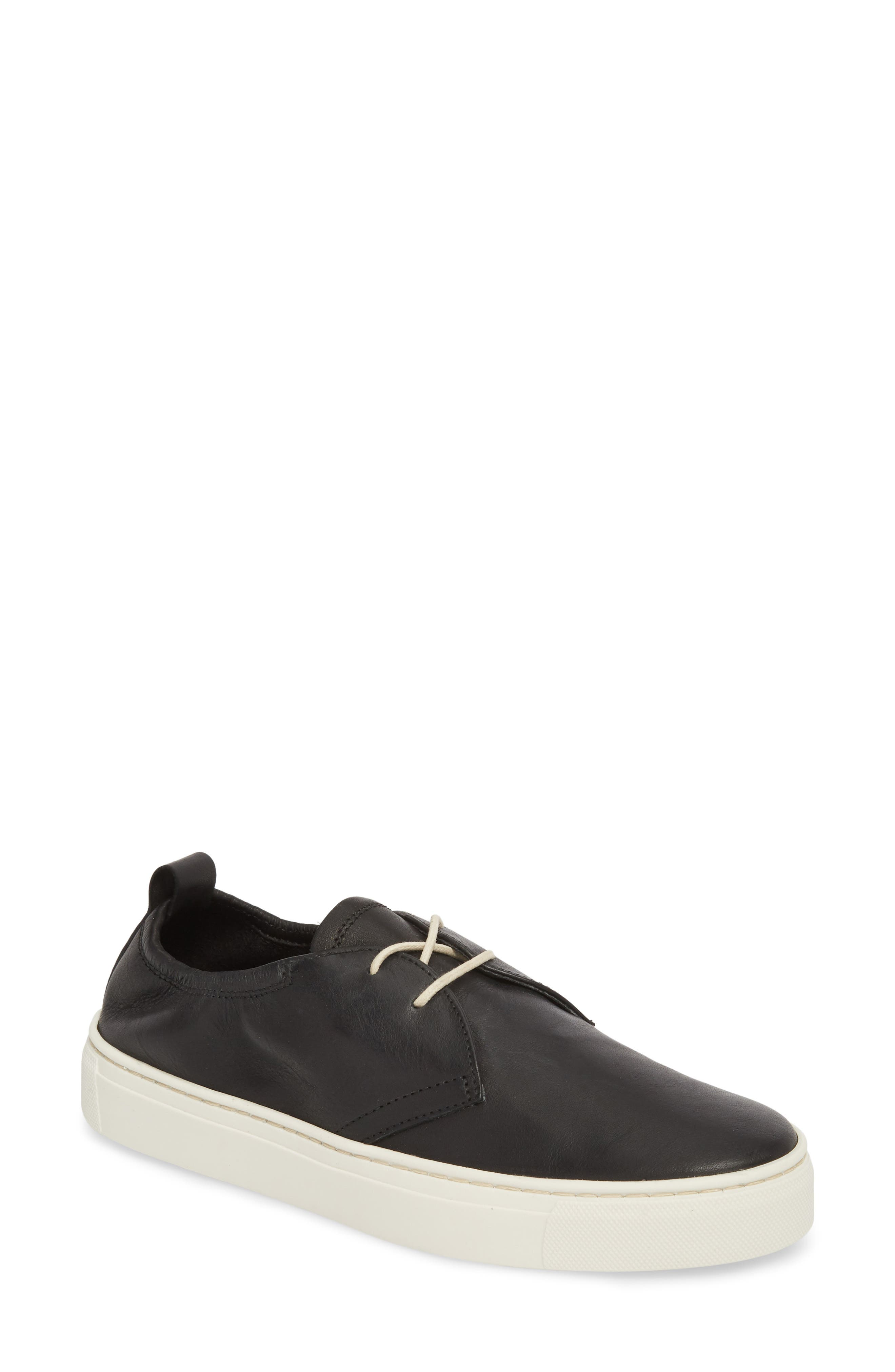 Sneak Up Sneaker,                         Main,                         color, BLACK LEATHER