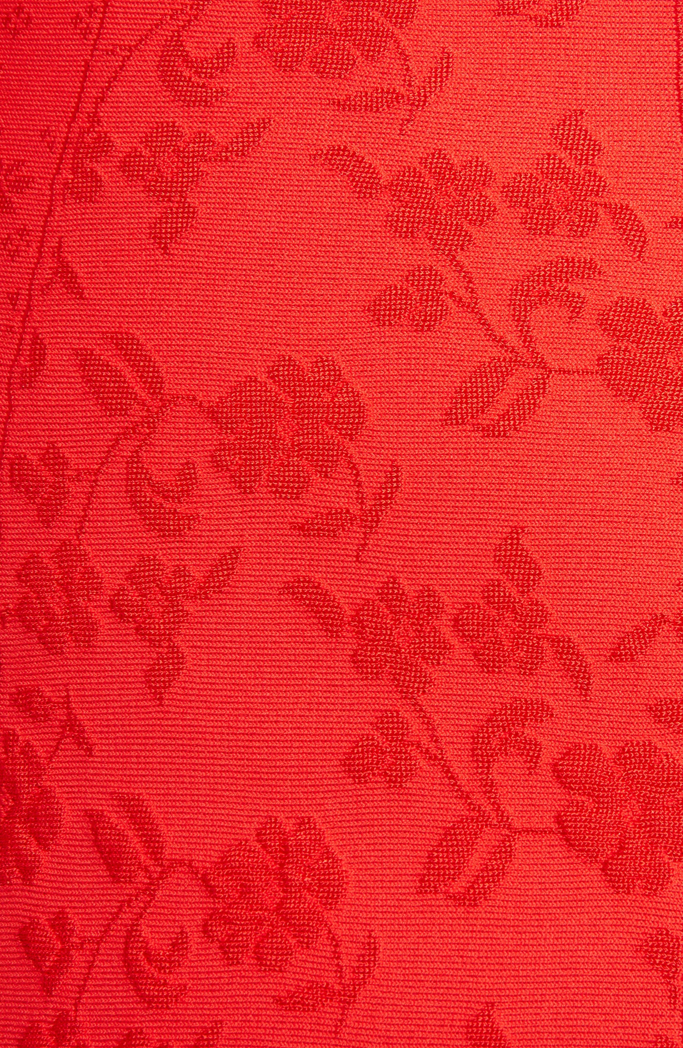 Knit Patchwork Dress,                             Alternate thumbnail 5, color,                             641