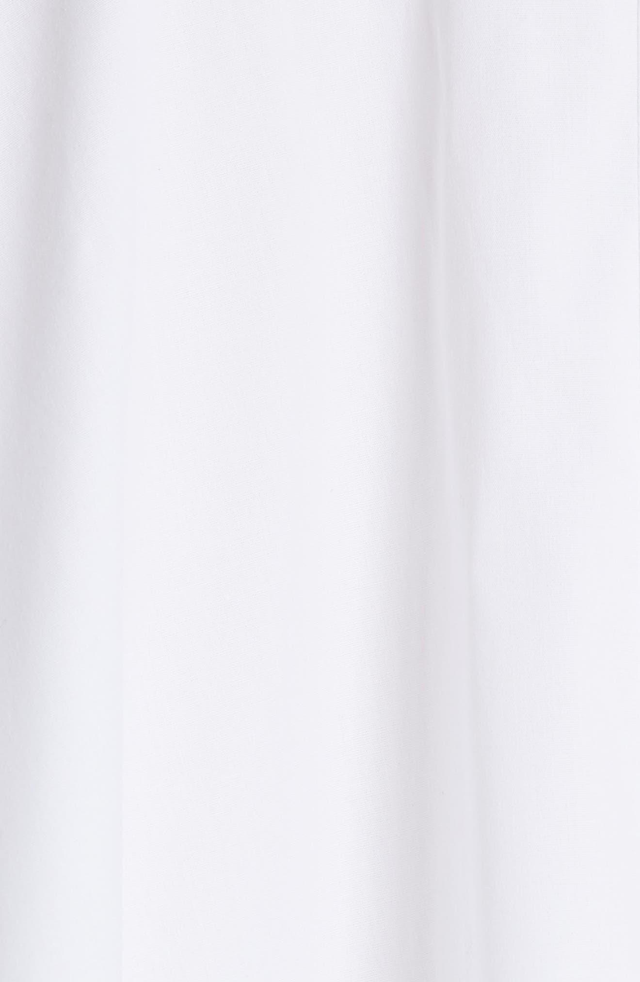 Portrait Open Collar Shirt,                             Alternate thumbnail 5, color,                             WHITE