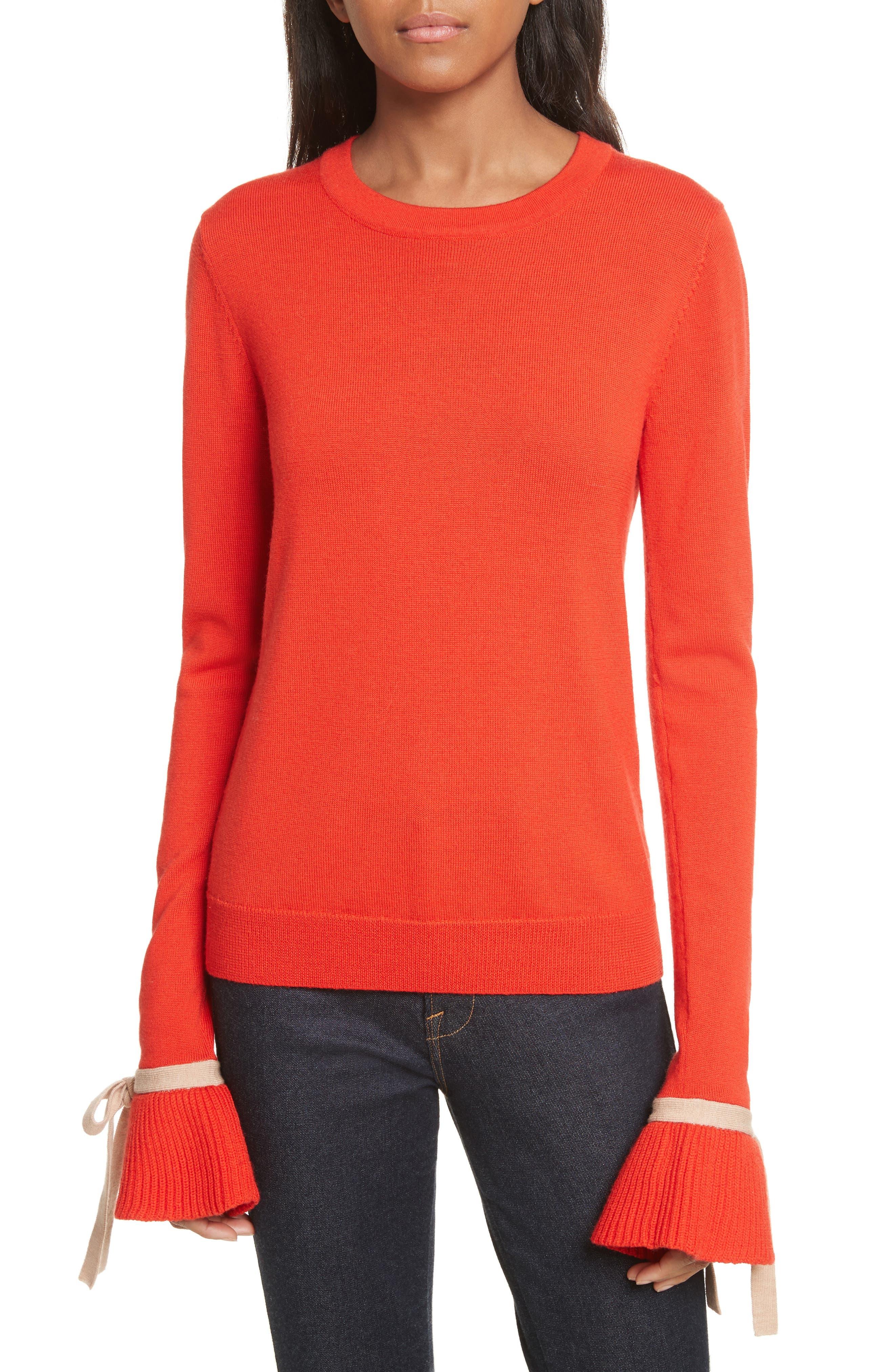Saeta Tie Cuff Sweater,                         Main,                         color,