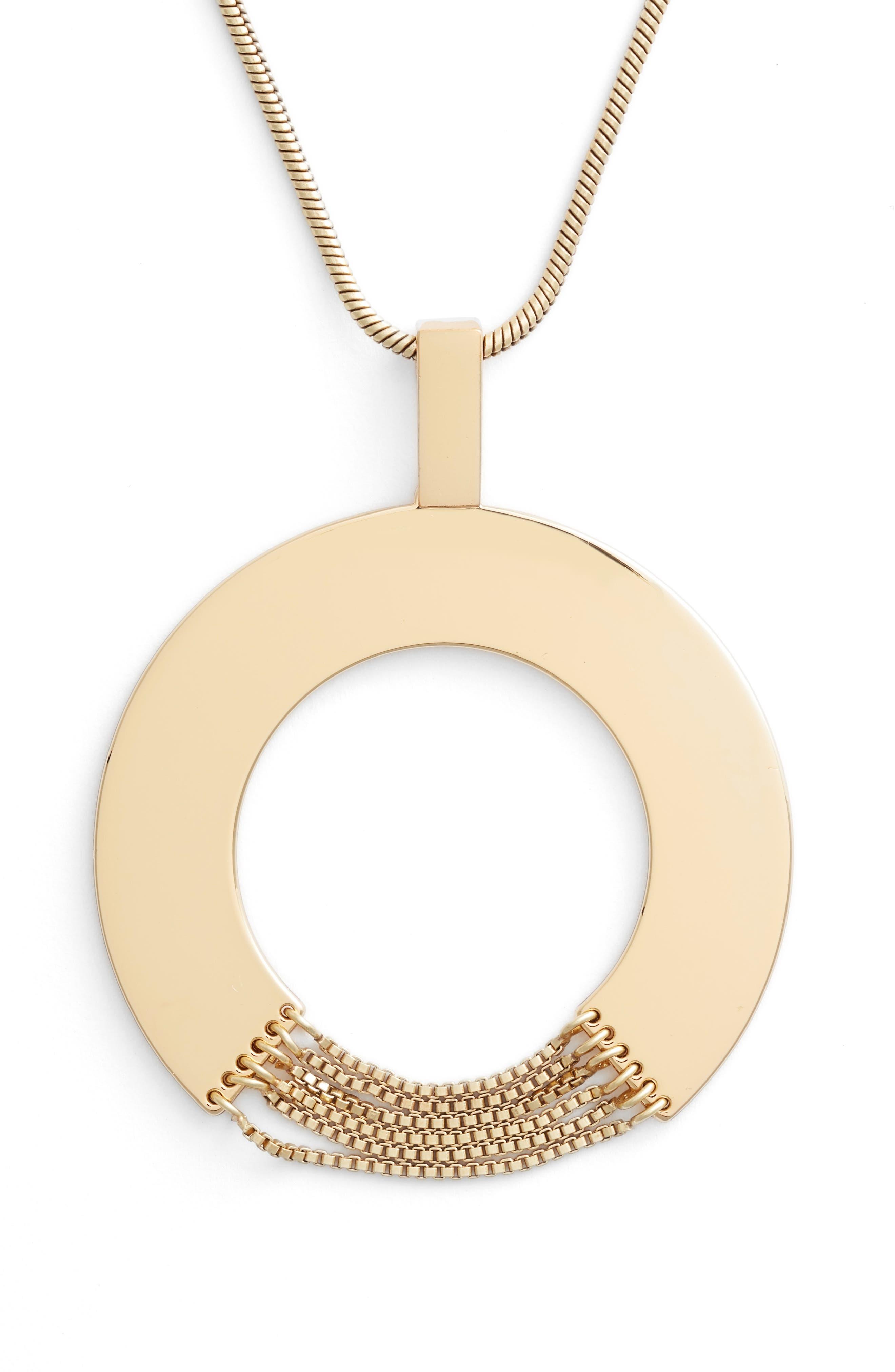 Sofia Rises Pendant Necklace,                             Alternate thumbnail 2, color,                             GOLD