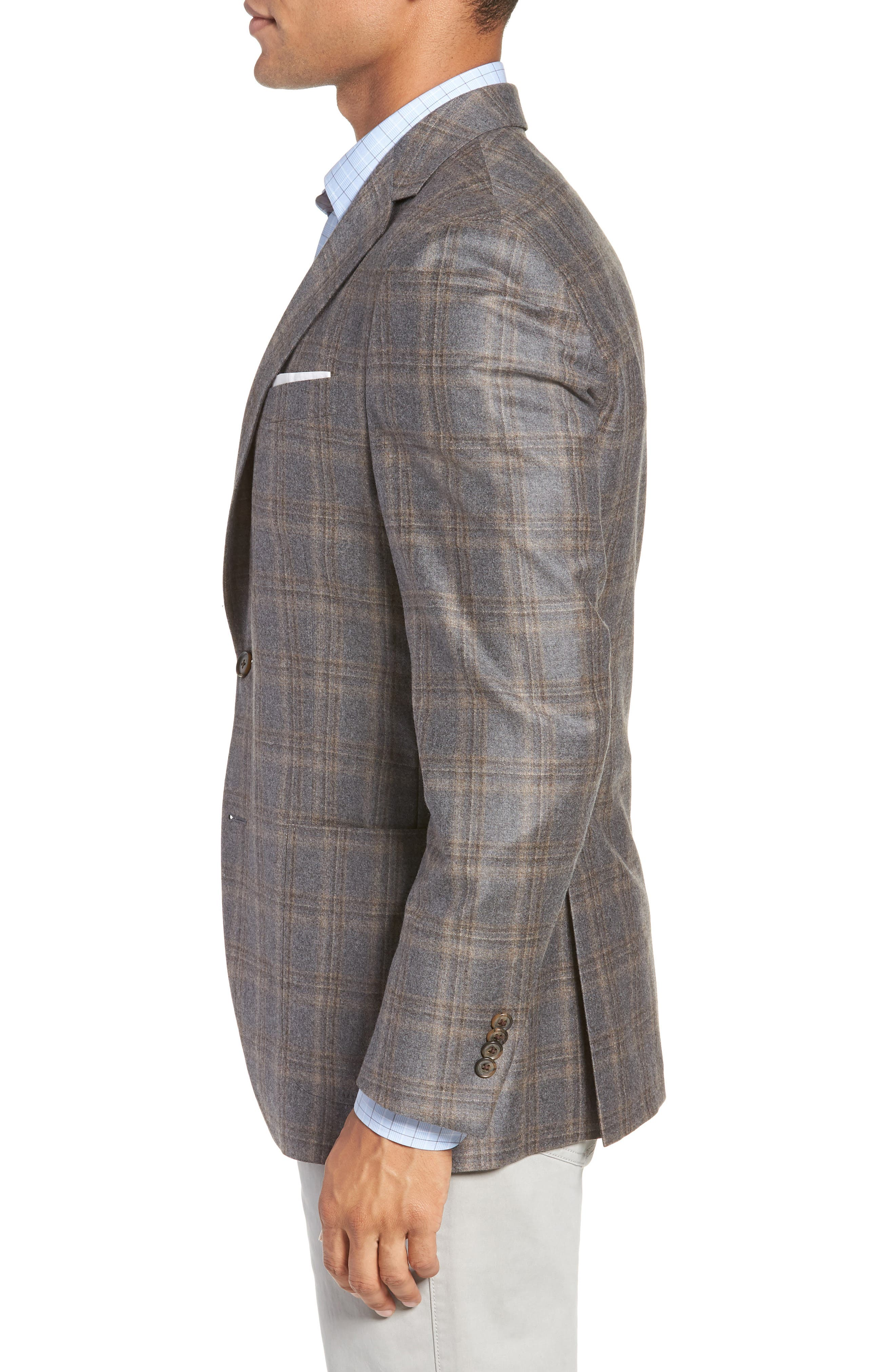 Hyperlight Classic Fit Wool Sport Coat,                             Alternate thumbnail 3, color,                             GREY
