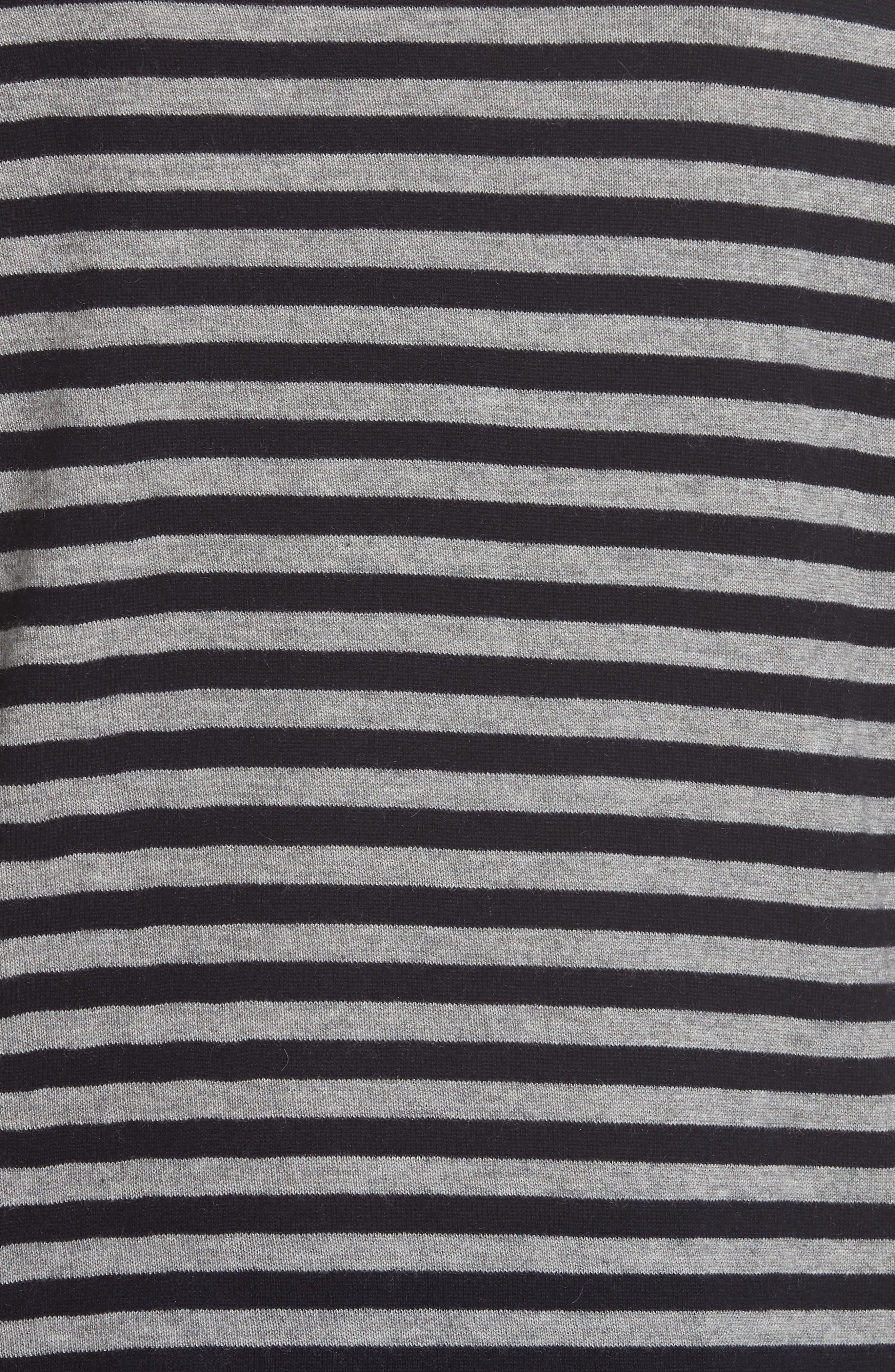 MAX MARA,                             Nardo Stripe Silk & Cashmere Sweater,                             Alternate thumbnail 5, color,                             LIGHT GREY