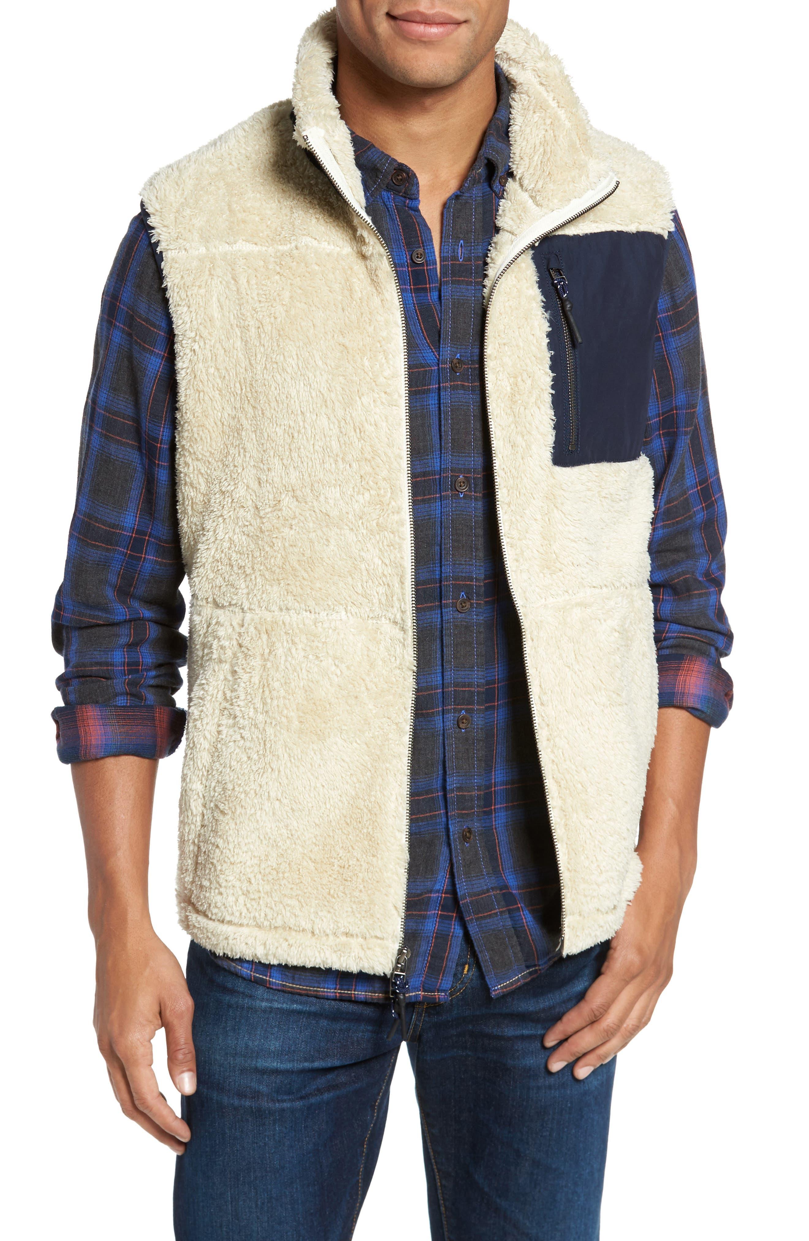 Colorblock Fleece Vest,                             Main thumbnail 1, color,                             103