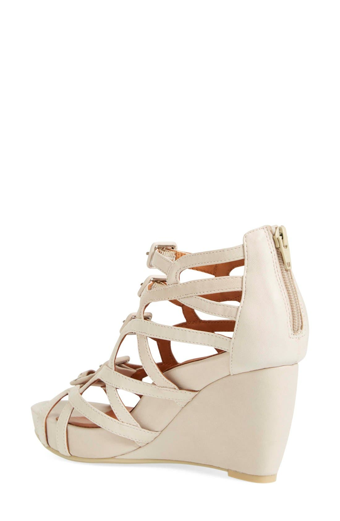 Ivanna' Gladiator Wedge Sandal,                             Alternate thumbnail 6, color,