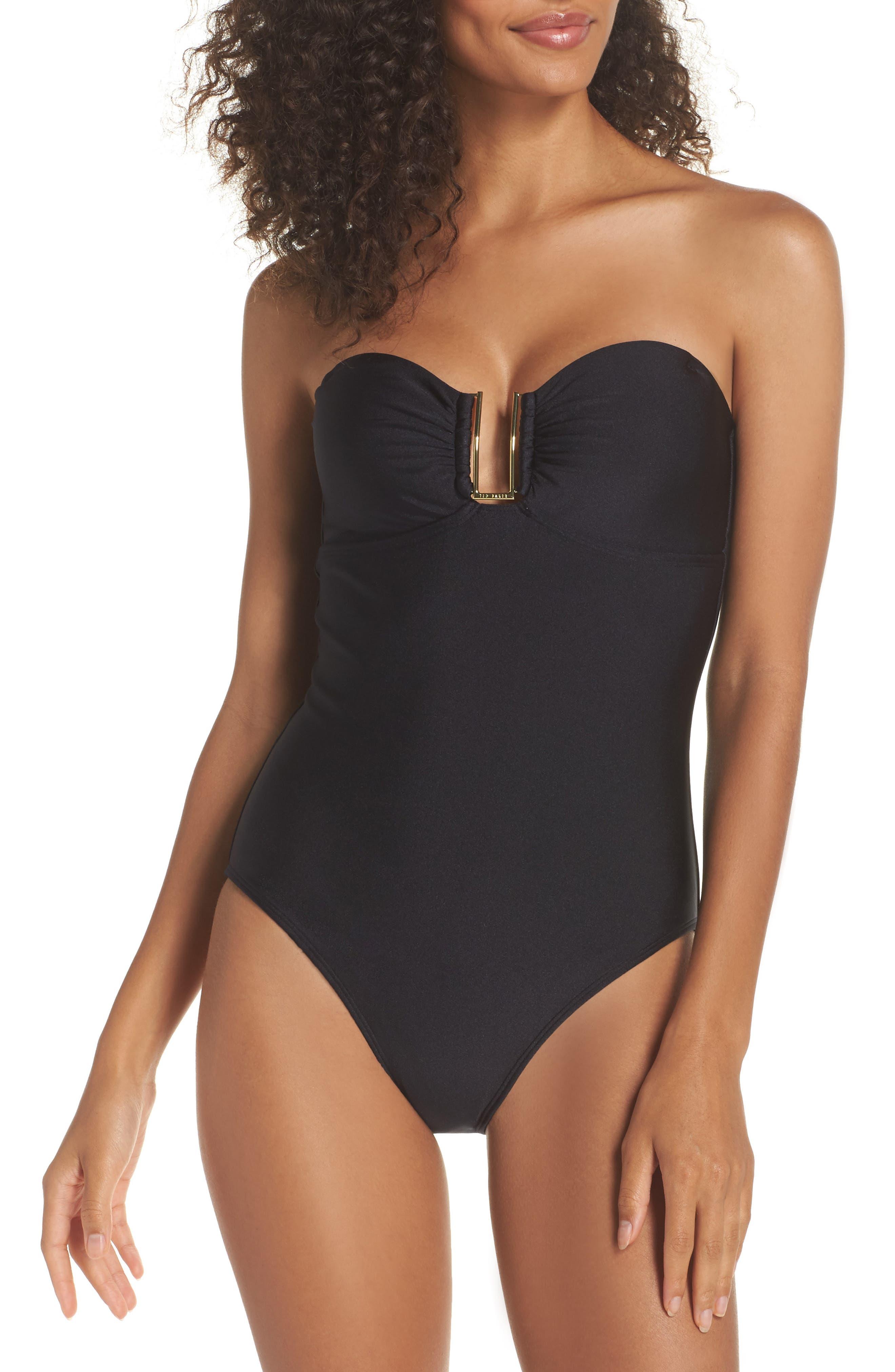 Anira Bandeau Swimsuit,                         Main,                         color, 001
