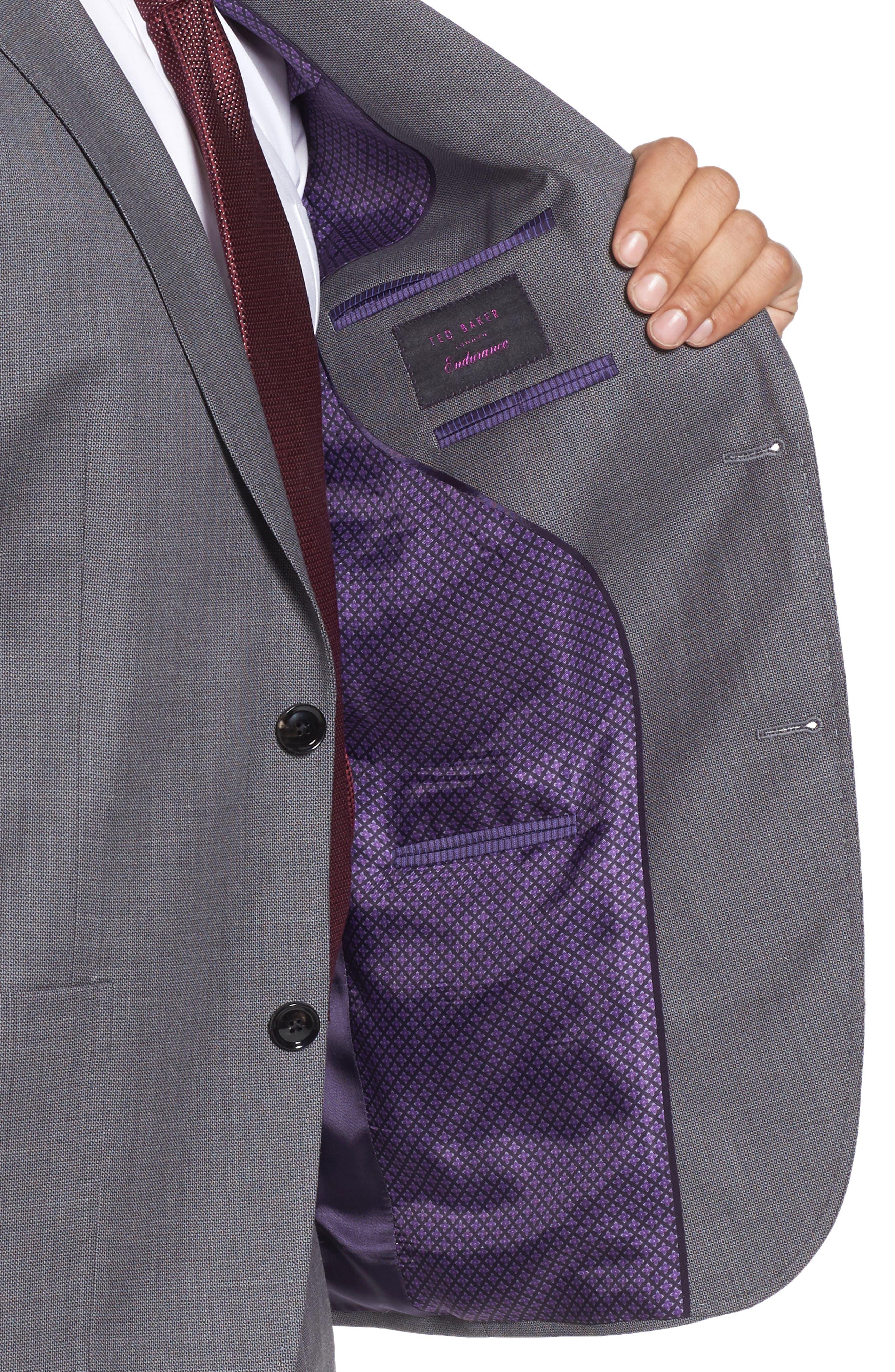 Kyle Trim Fit Solid Wool Suit,                             Alternate thumbnail 4, color,                             020