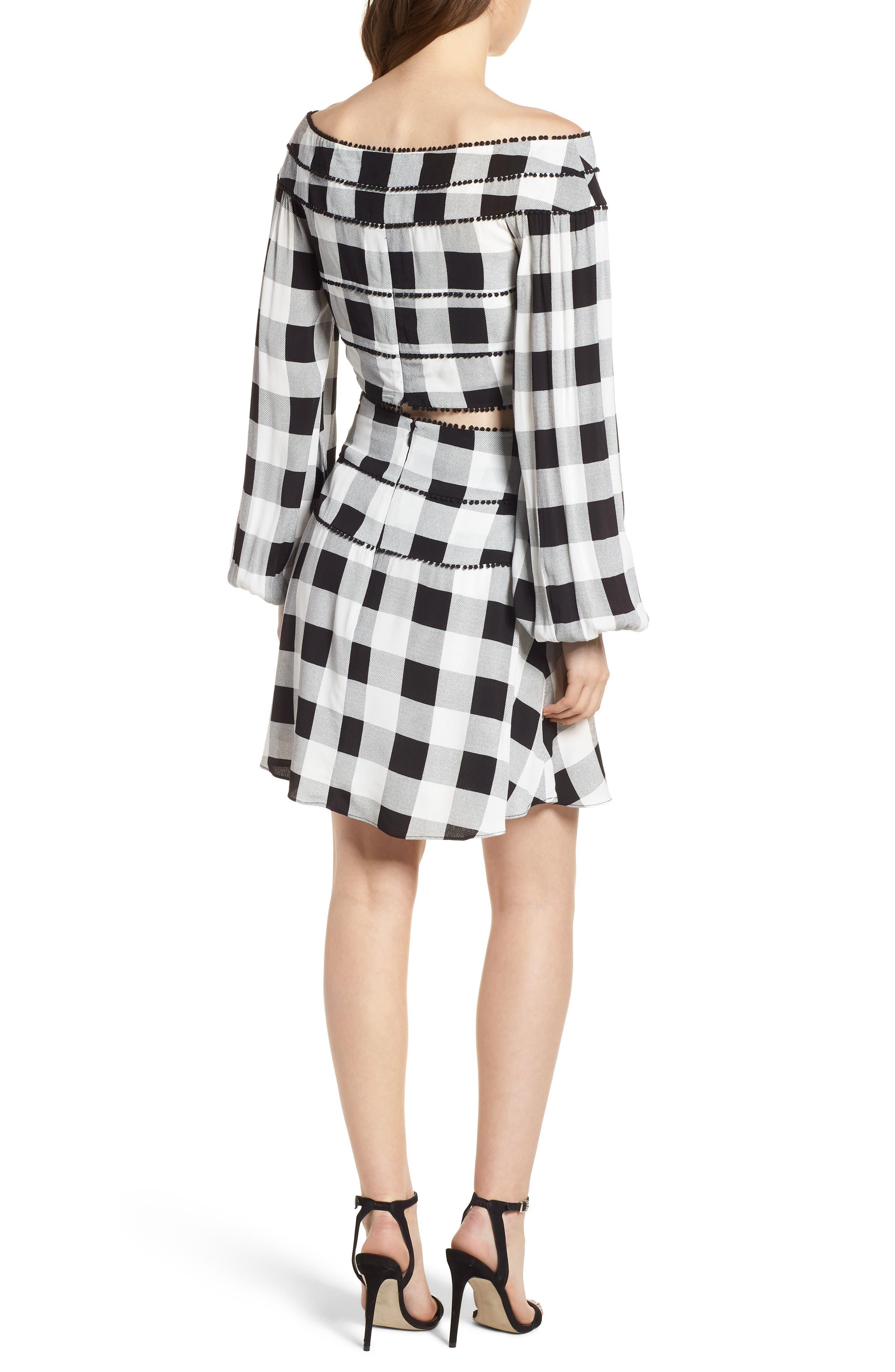 Bell High Waist Miniskirt,                             Alternate thumbnail 8, color,                             002
