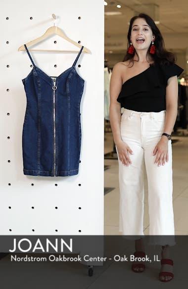 Zip Through Denim Body-Con Dress, sales video thumbnail