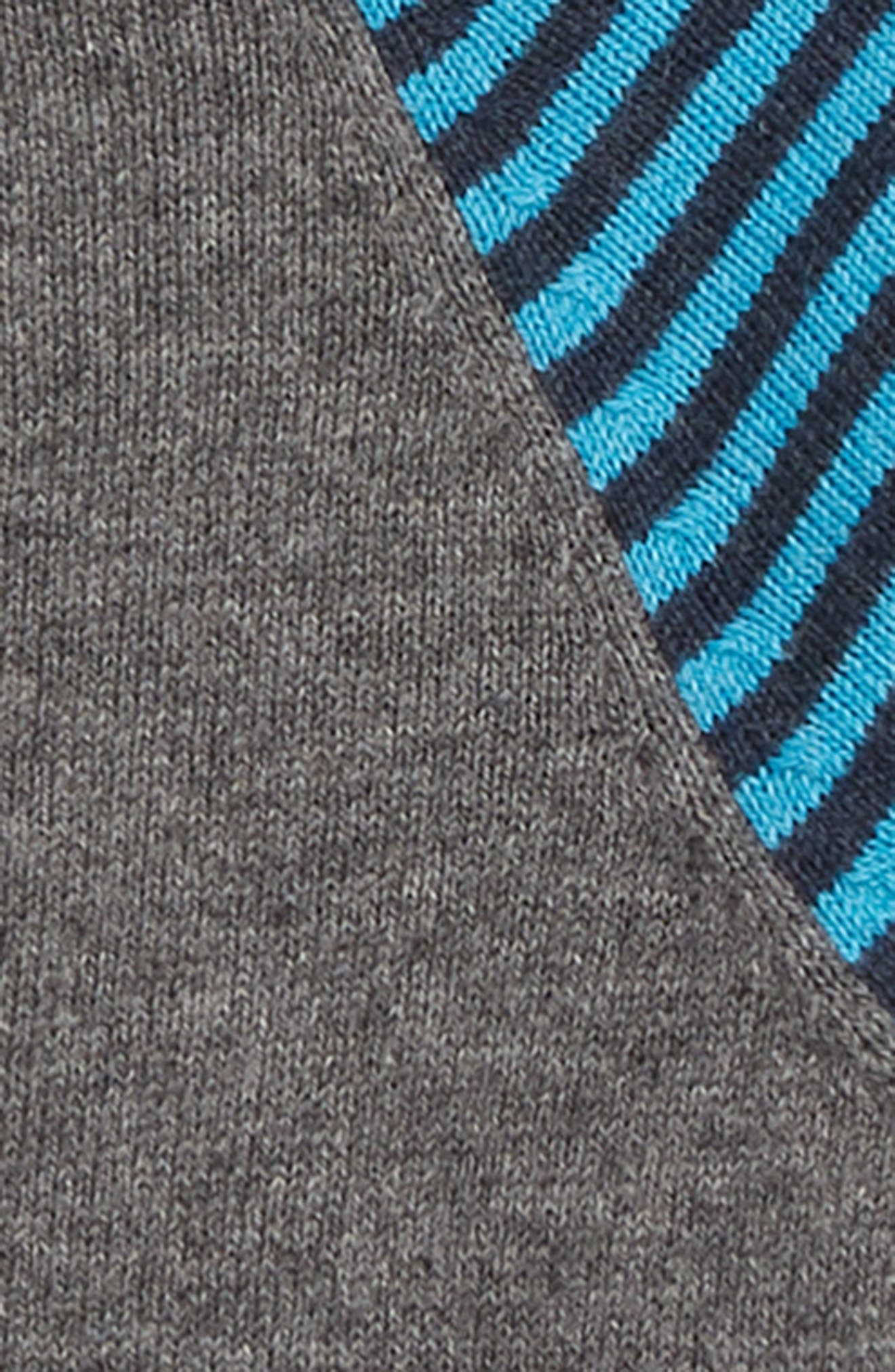 Stripe Sweater,                             Alternate thumbnail 2, color,                             CHARCOAL MARL/ ASTRO GREEN