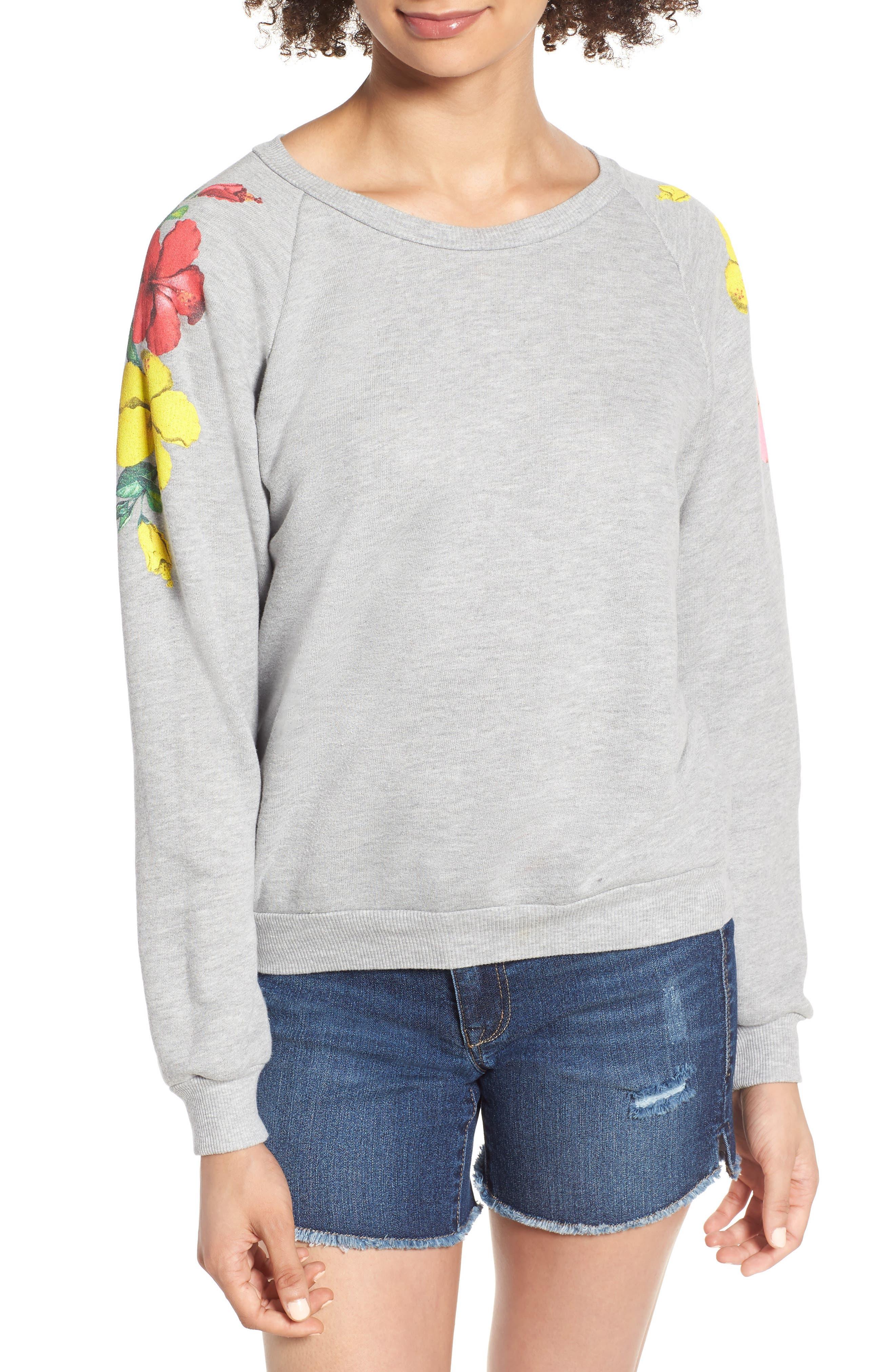 Hibiscus Junior Sweatshirt,                             Main thumbnail 1, color,                             020