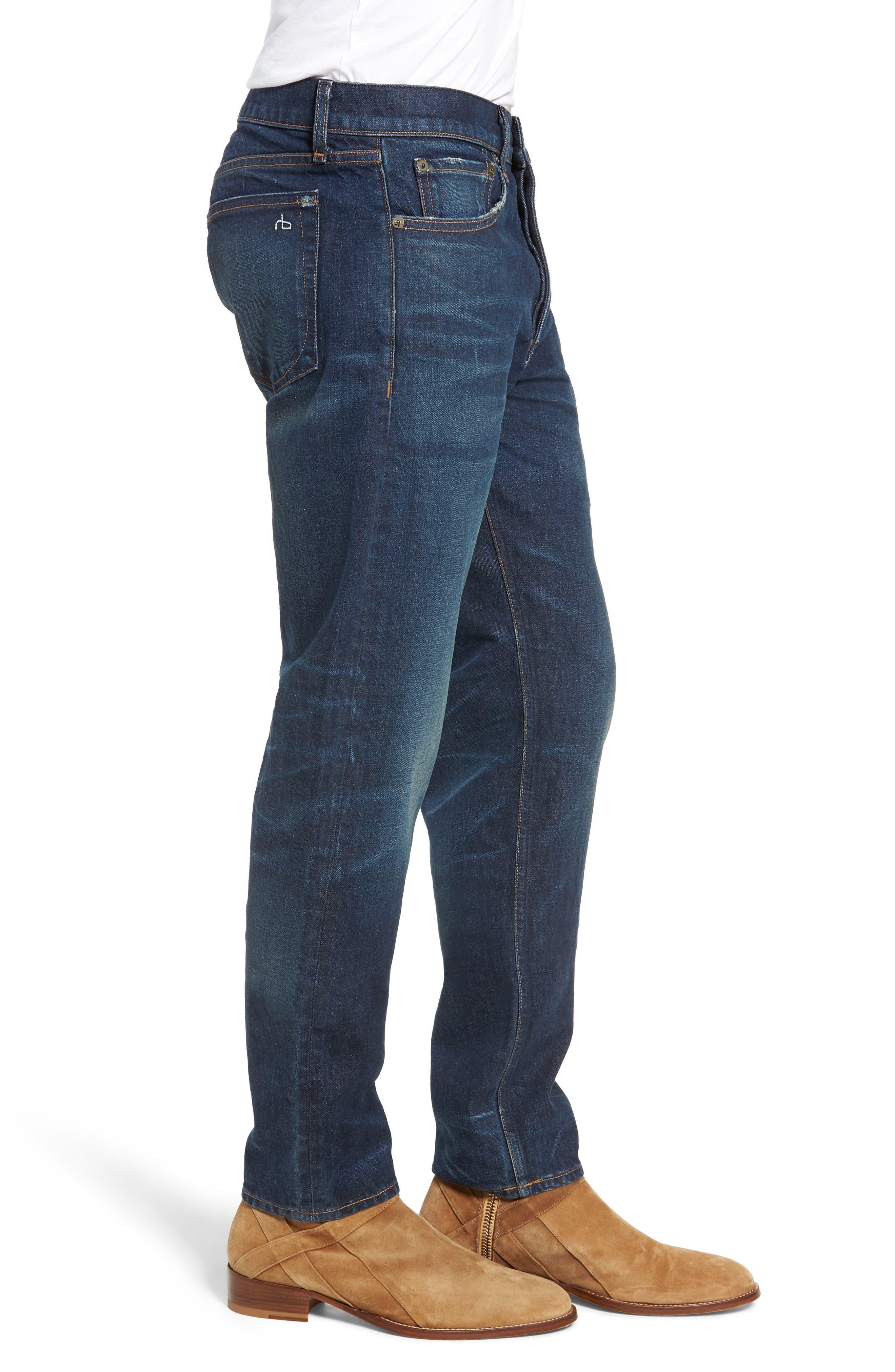Fit 2 Slim Fit Jeans,                             Alternate thumbnail 3, color,                             WORN ACE