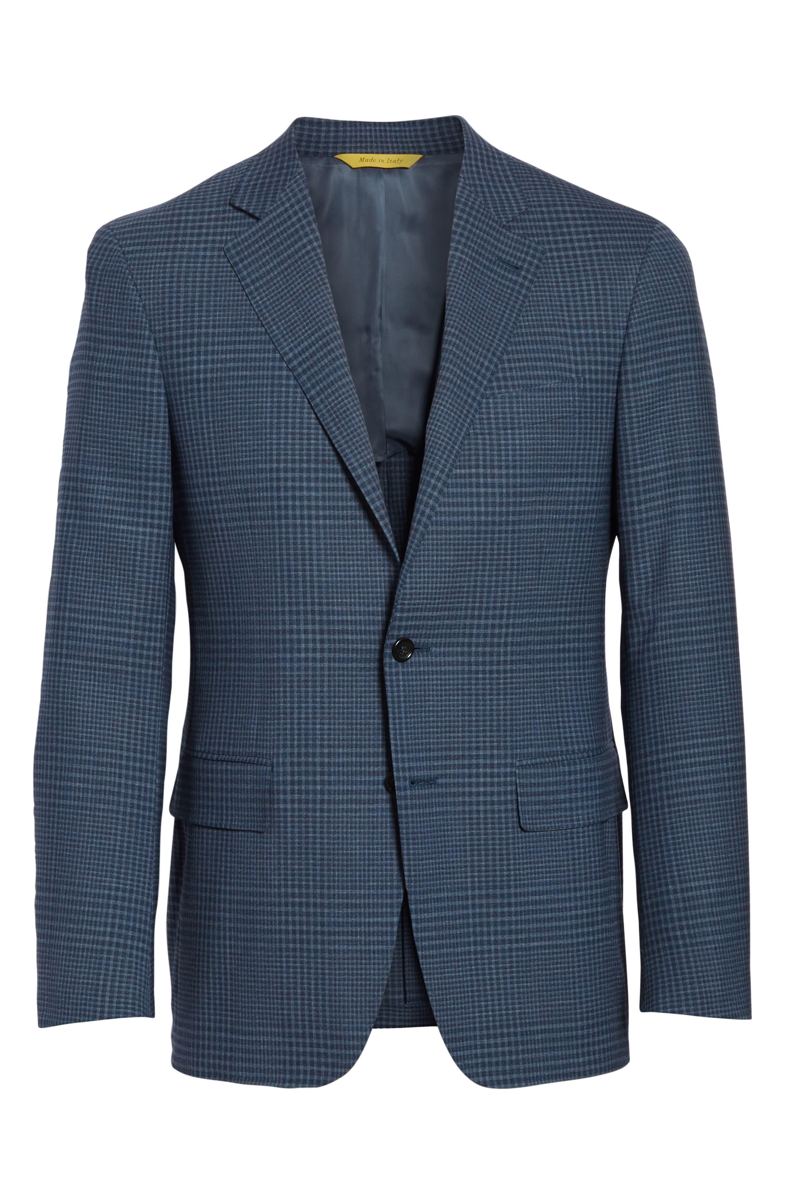 Kei Classic Fit Plaid Wool Sport Coat,                             Alternate thumbnail 5, color,                             400