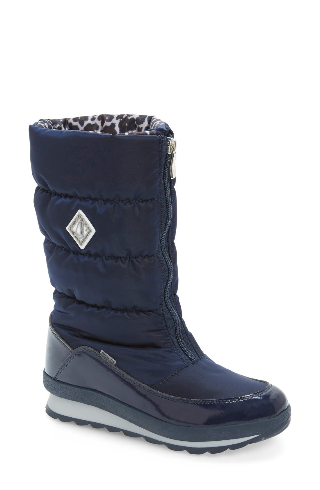 Cervina Waterproof Zip-Up Channel Quilted Boot,                             Main thumbnail 4, color,