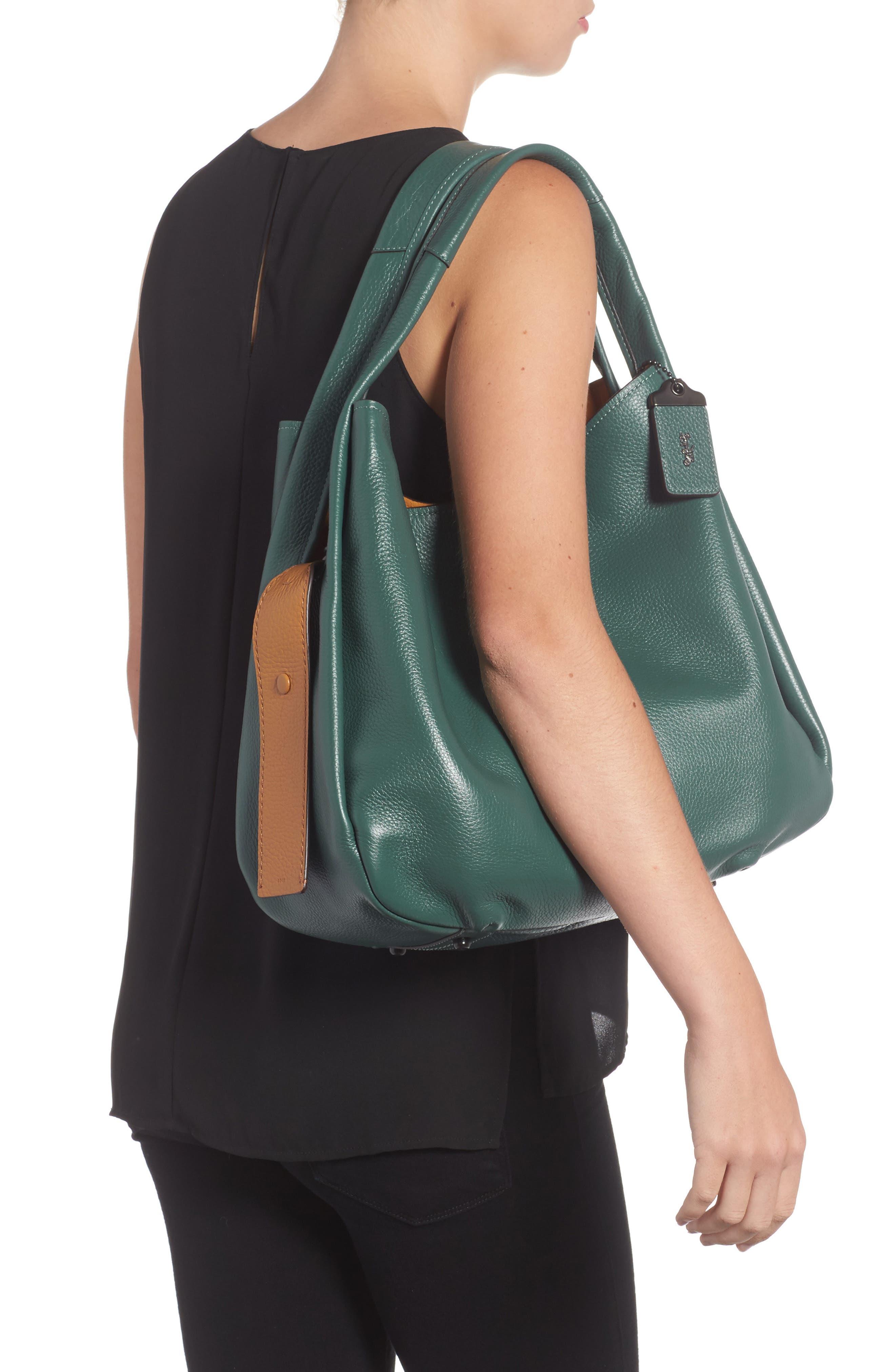 Bandit Leather Hobo & Removable Shoulder Bag,                             Alternate thumbnail 2, color,                             313