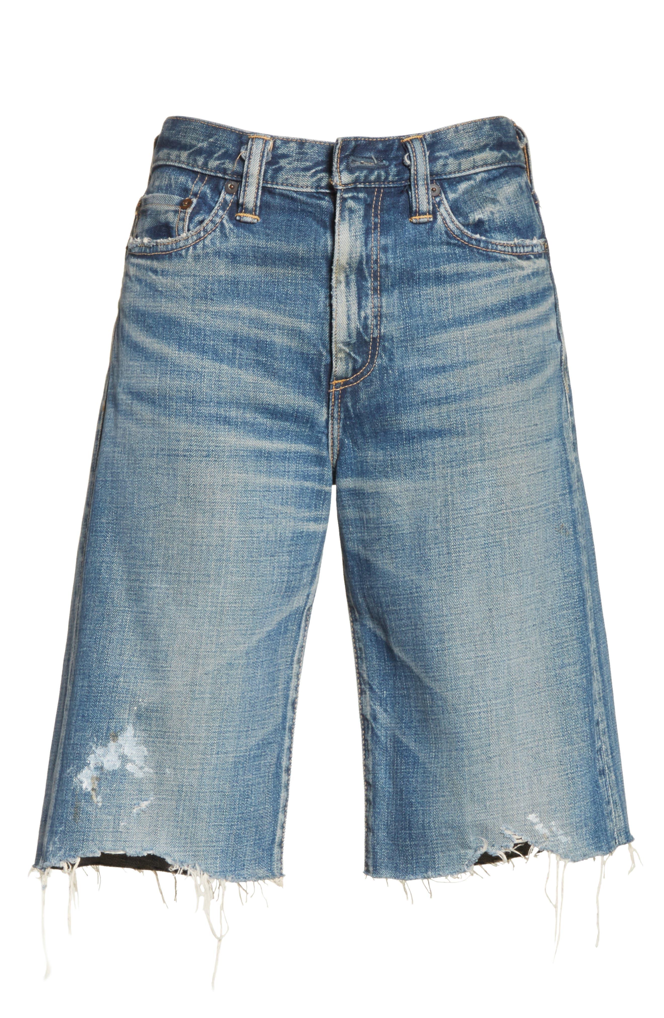 Gannett Denim Shorts,                             Alternate thumbnail 6, color,                             400