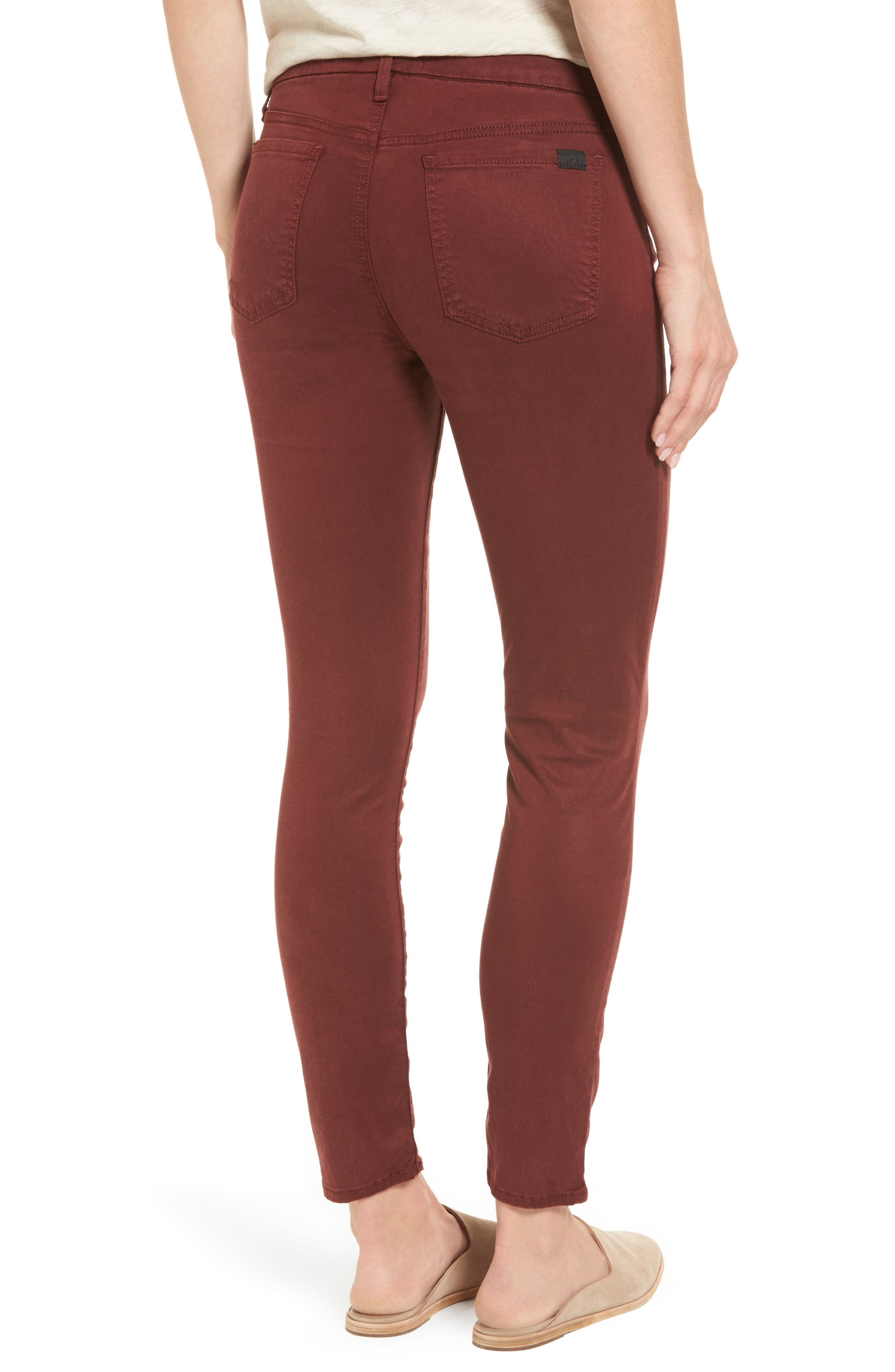 Sateen Skinny Ankle Jeans,                             Alternate thumbnail 2, color,                             201