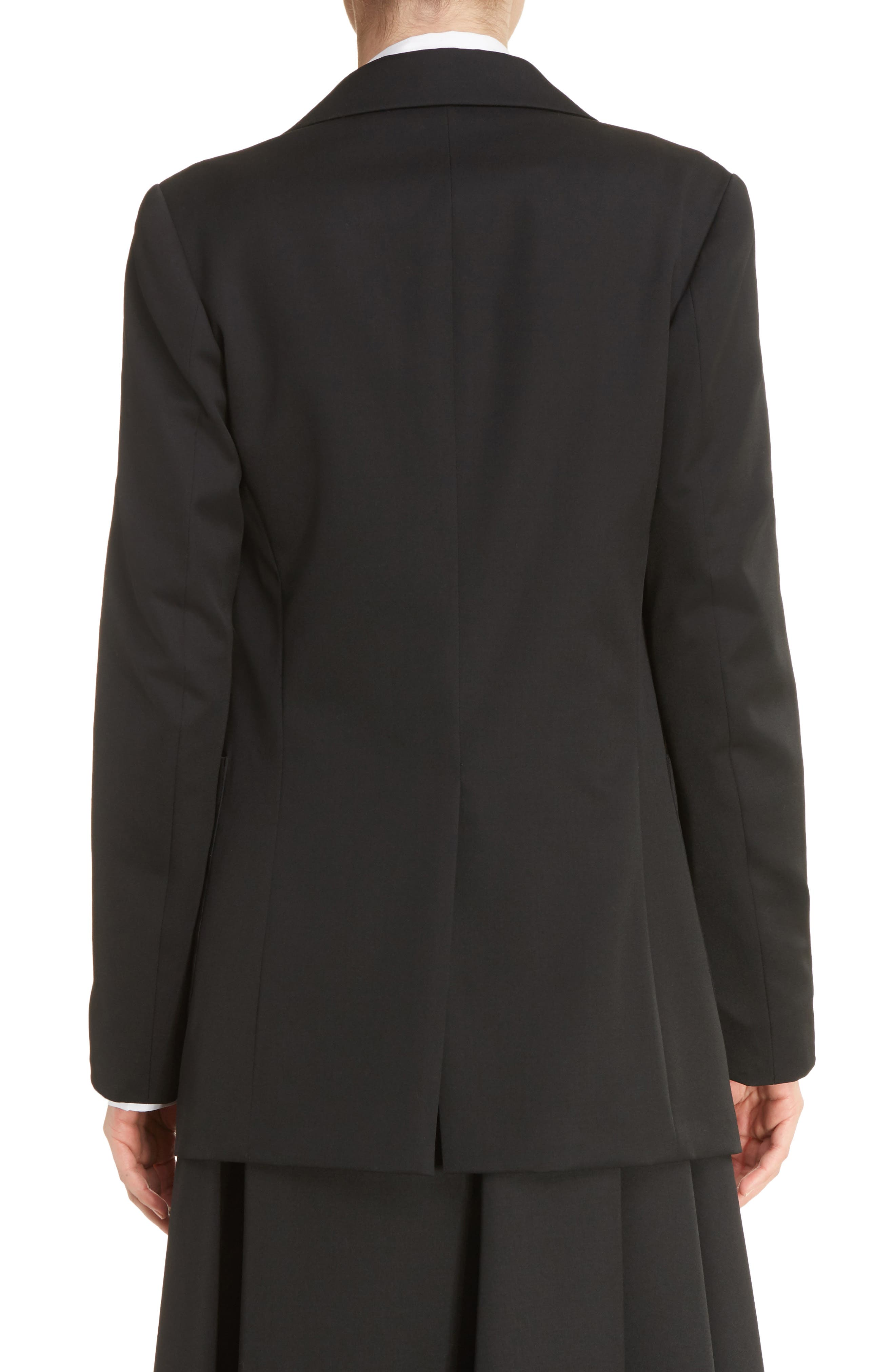 U-Out P Tailored Wool Jacket,                             Alternate thumbnail 2, color,                             001