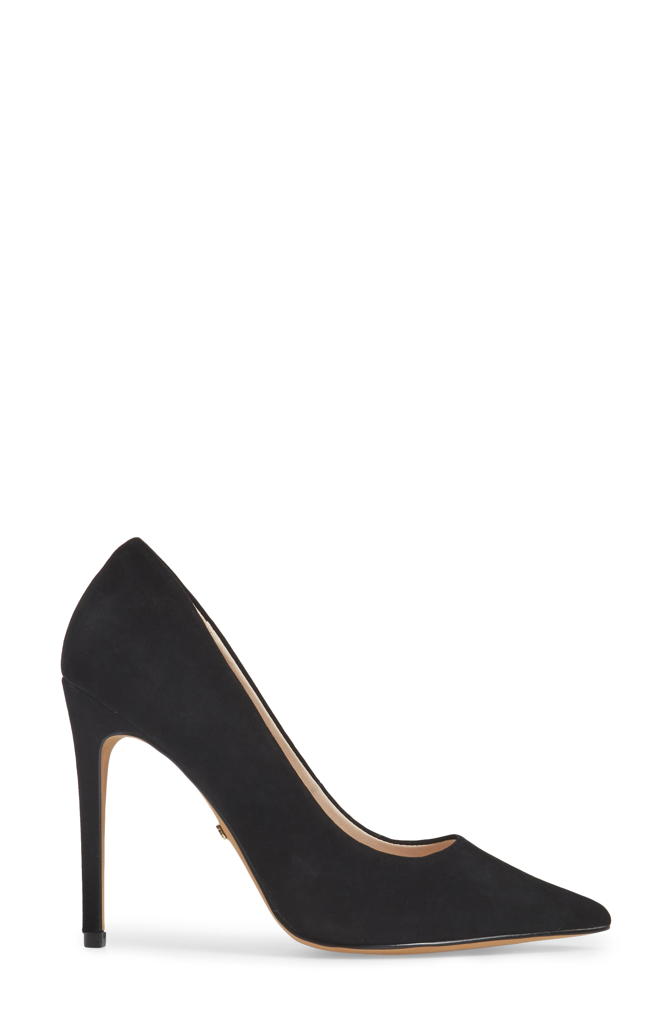 Grammer Pointy Toe Pump,                             Alternate thumbnail 3, color,                             BLACK LEATHER