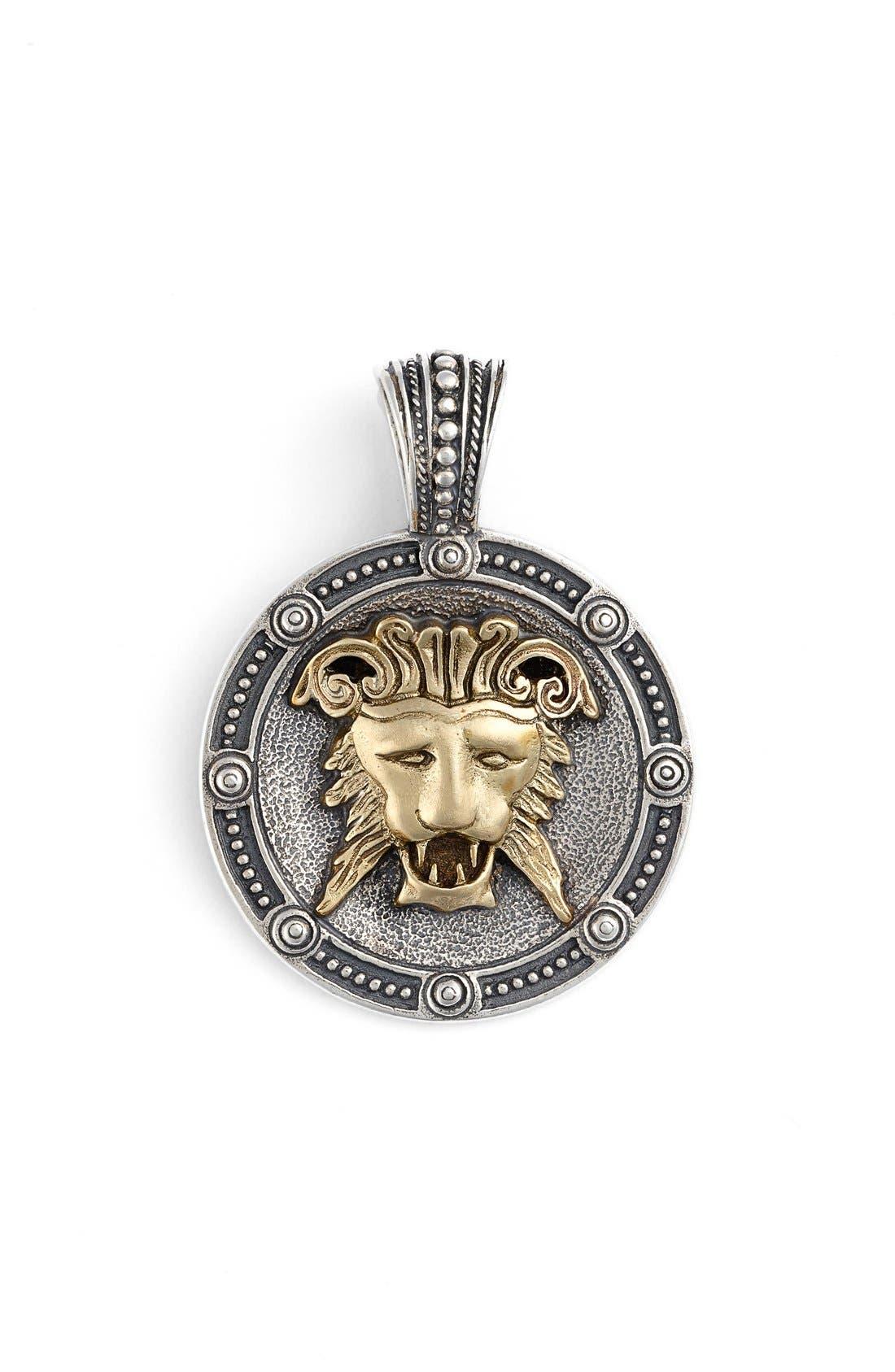 Myrmidones Lion Face Pendant,                             Main thumbnail 1, color,                             040