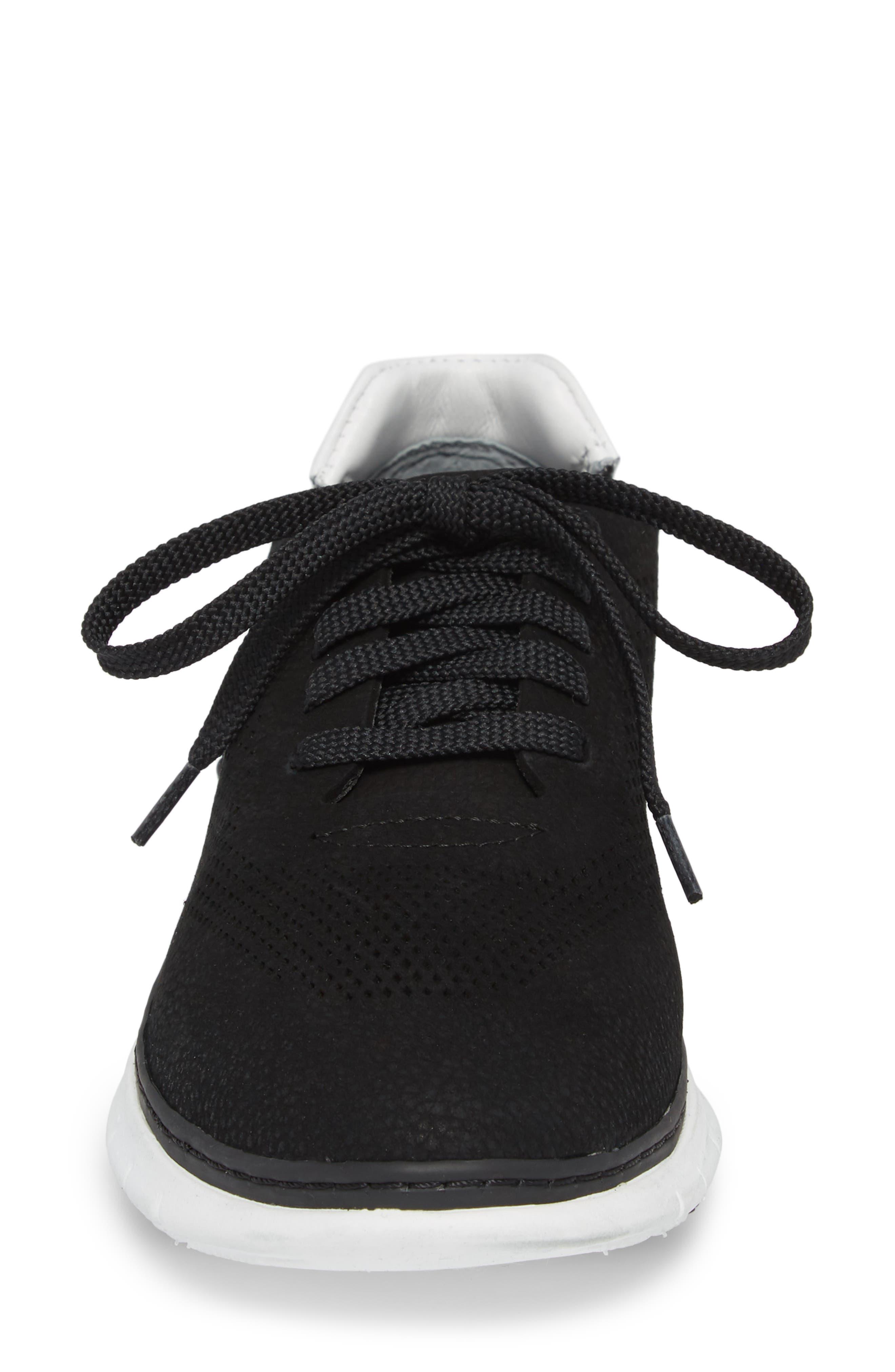Joey Sneaker,                             Alternate thumbnail 4, color,                             BLACK NUBUCK LEATHER