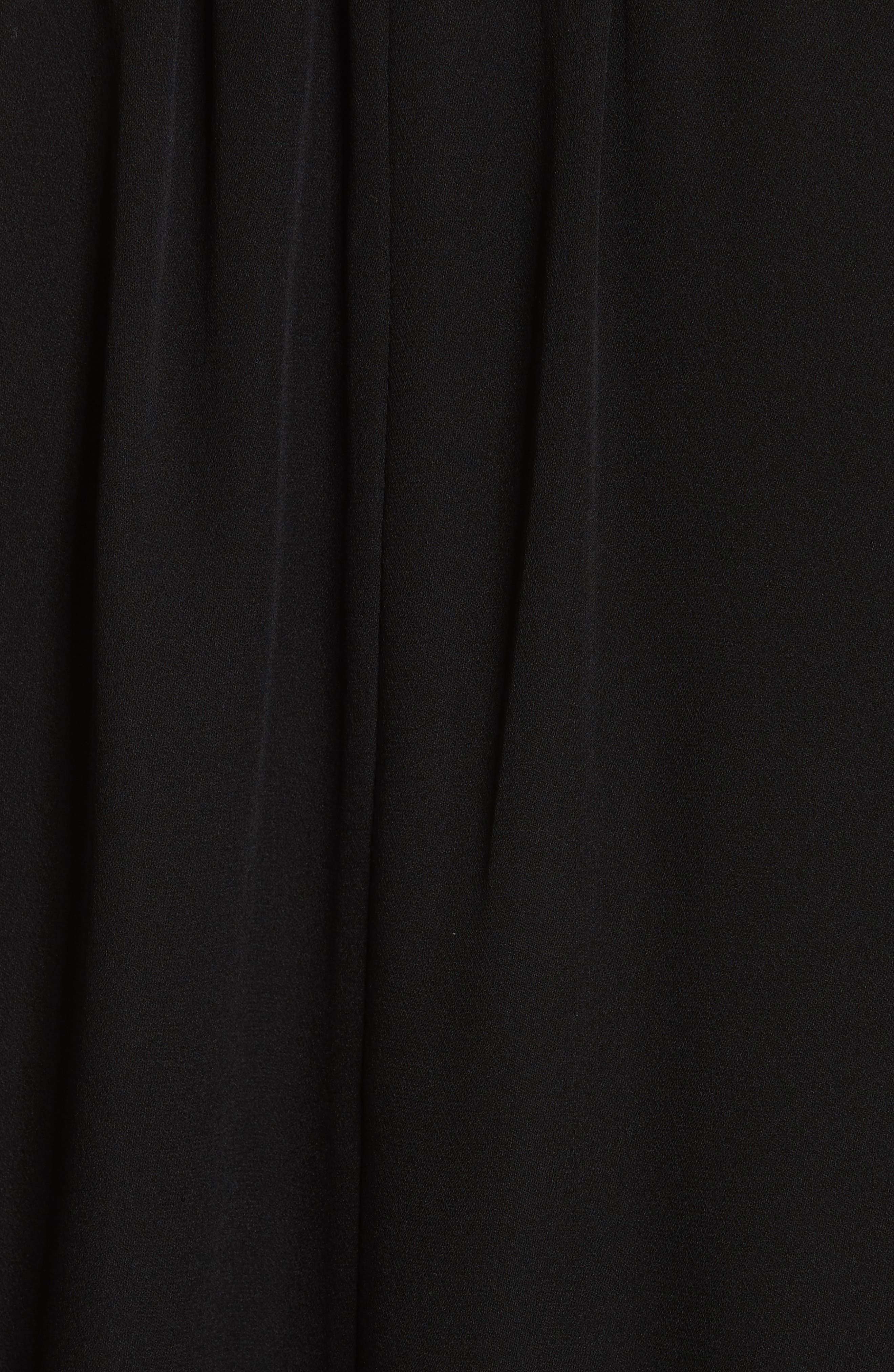Ahsaki Cold Shoulder Silk Bodysuit,                             Alternate thumbnail 5, color,                             002