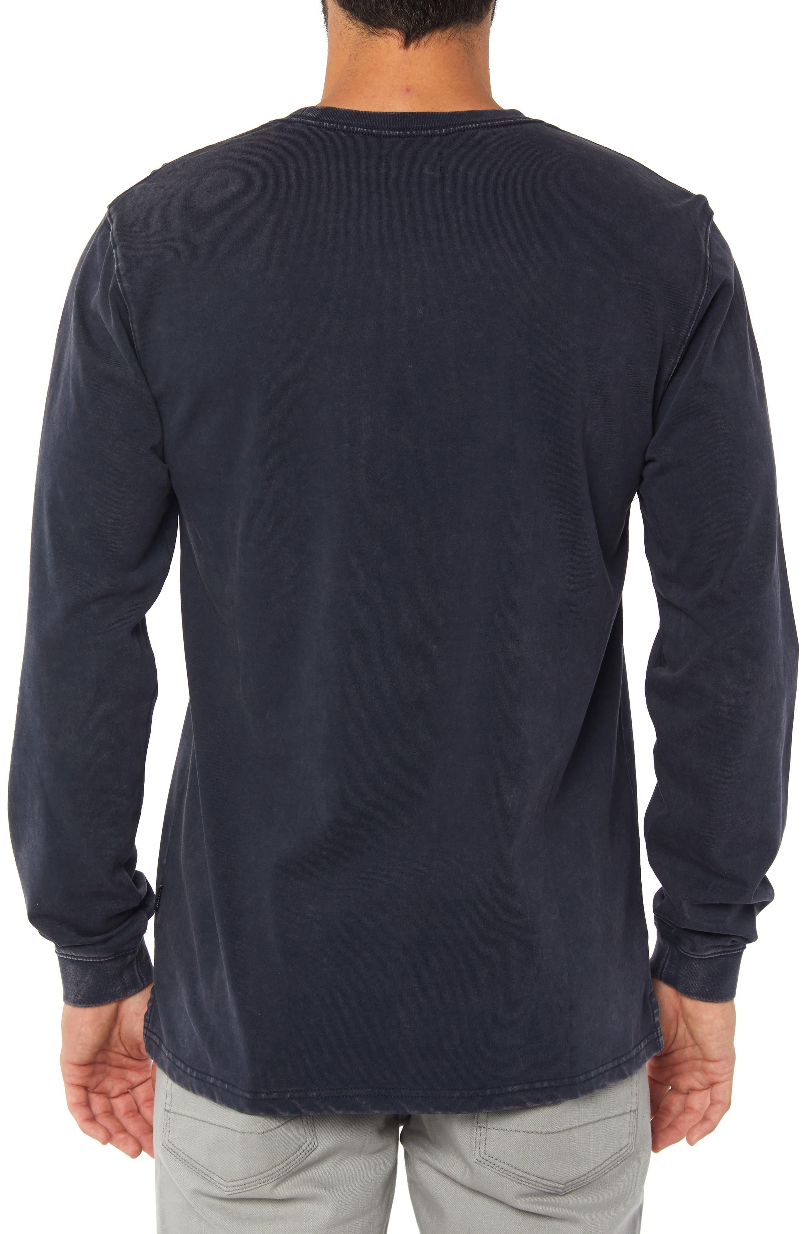 Hayward Long Sleeve T-Shirt,                             Alternate thumbnail 2, color,                             DARK NAVY