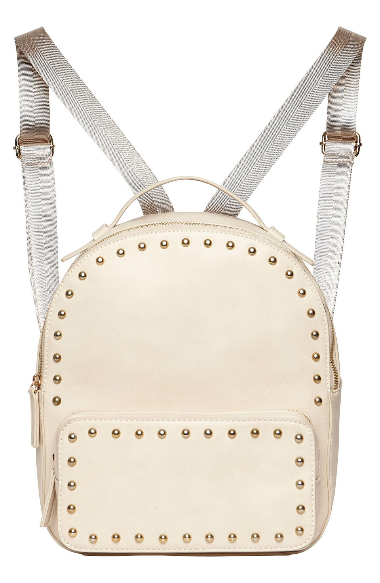 URBAN ORIGINALS Star Seeker Vegan Leather Backpack, Main, color, STONE