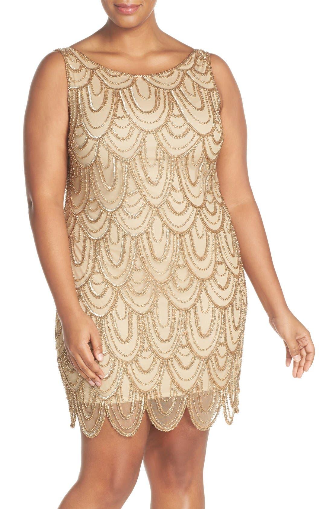 Beaded Sheath Dress,                             Main thumbnail 12, color,