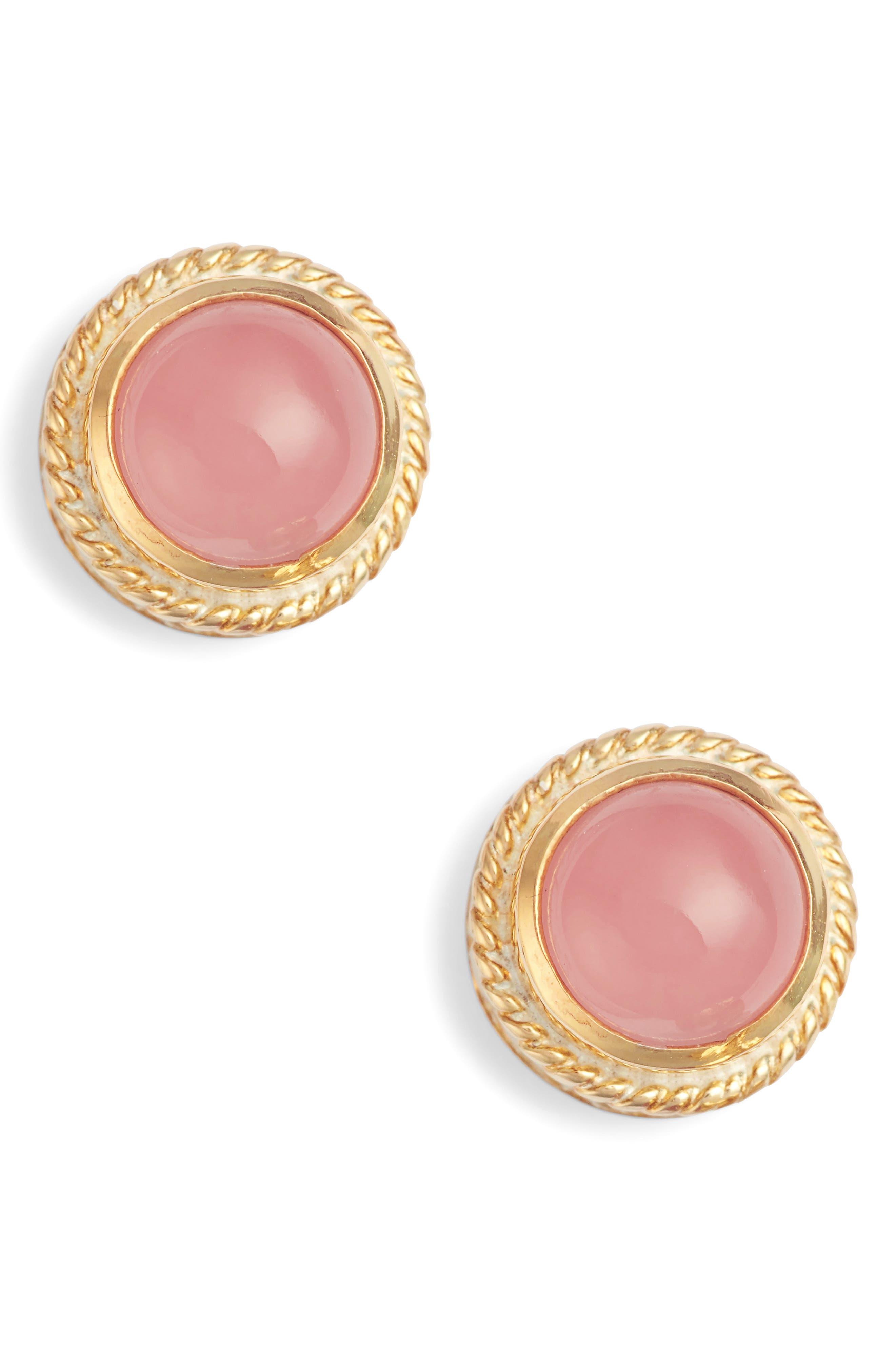 Stone Stud Earrings,                             Main thumbnail 8, color,