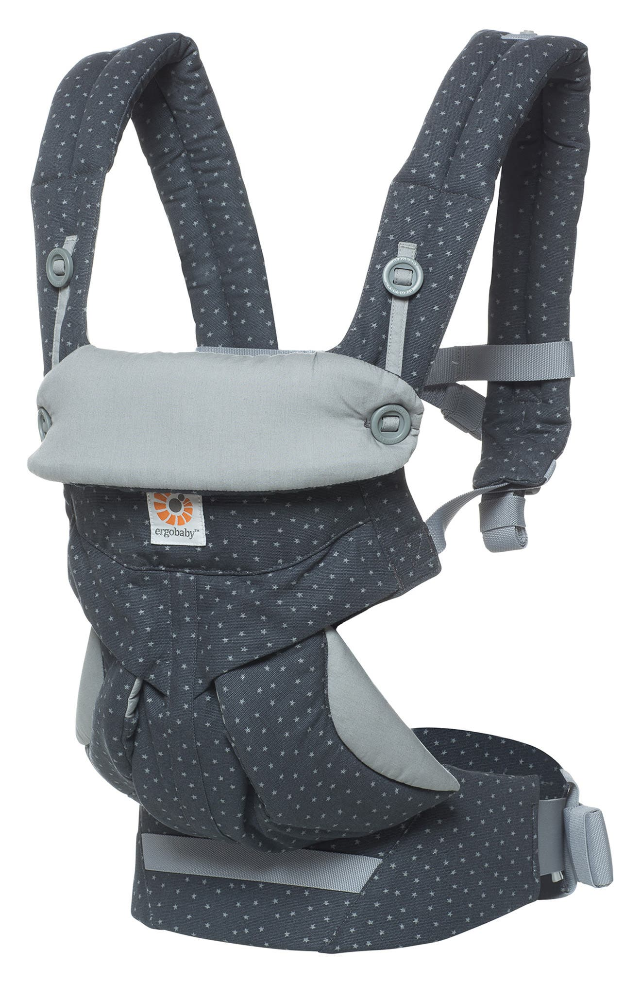 '360' Baby Carrier,                         Main,                         color, GREY WITH STARS