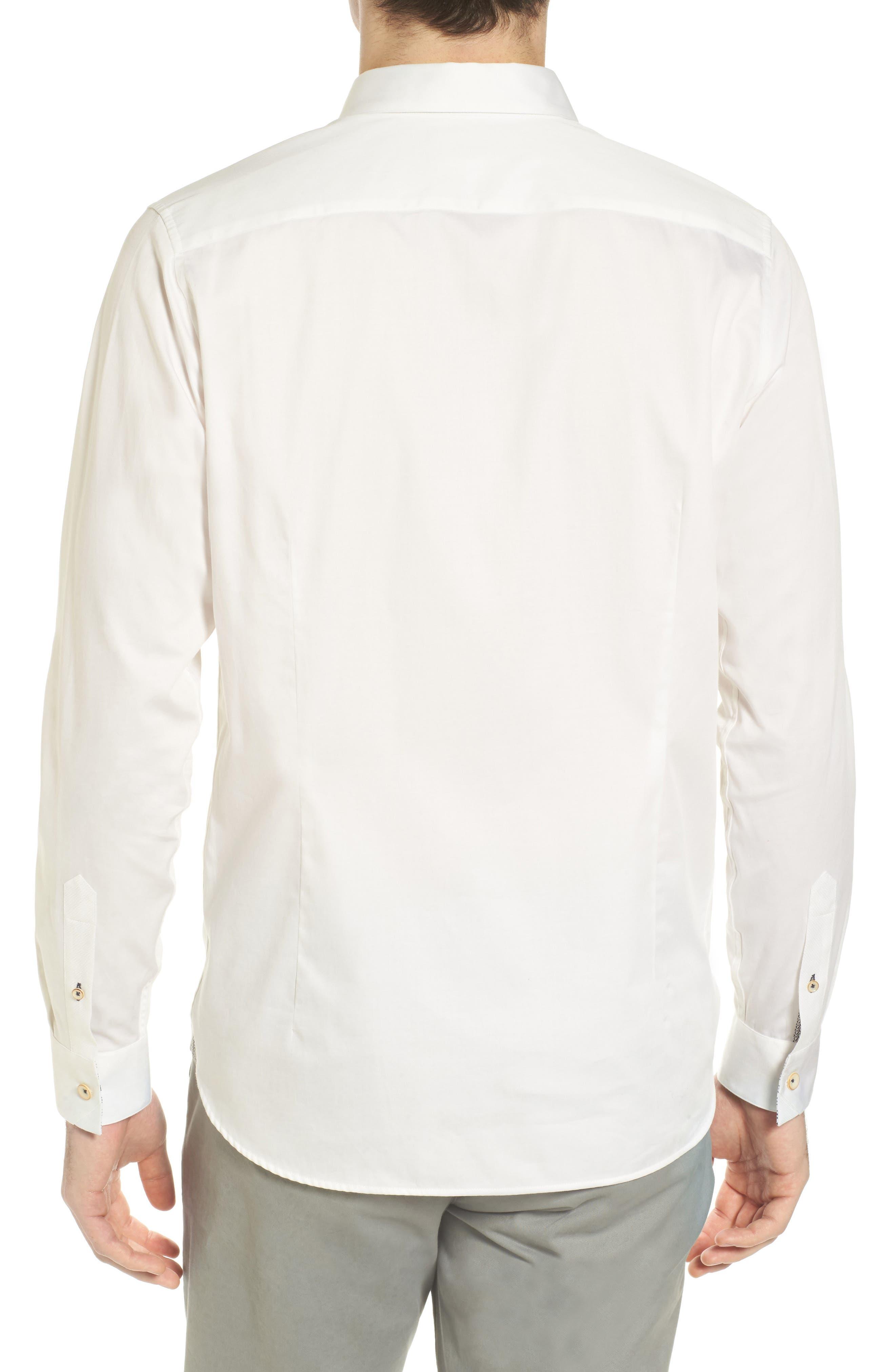Byllytt Extra Slim Fit Stretch Solid Sport Shirt,                             Alternate thumbnail 2, color,                             100