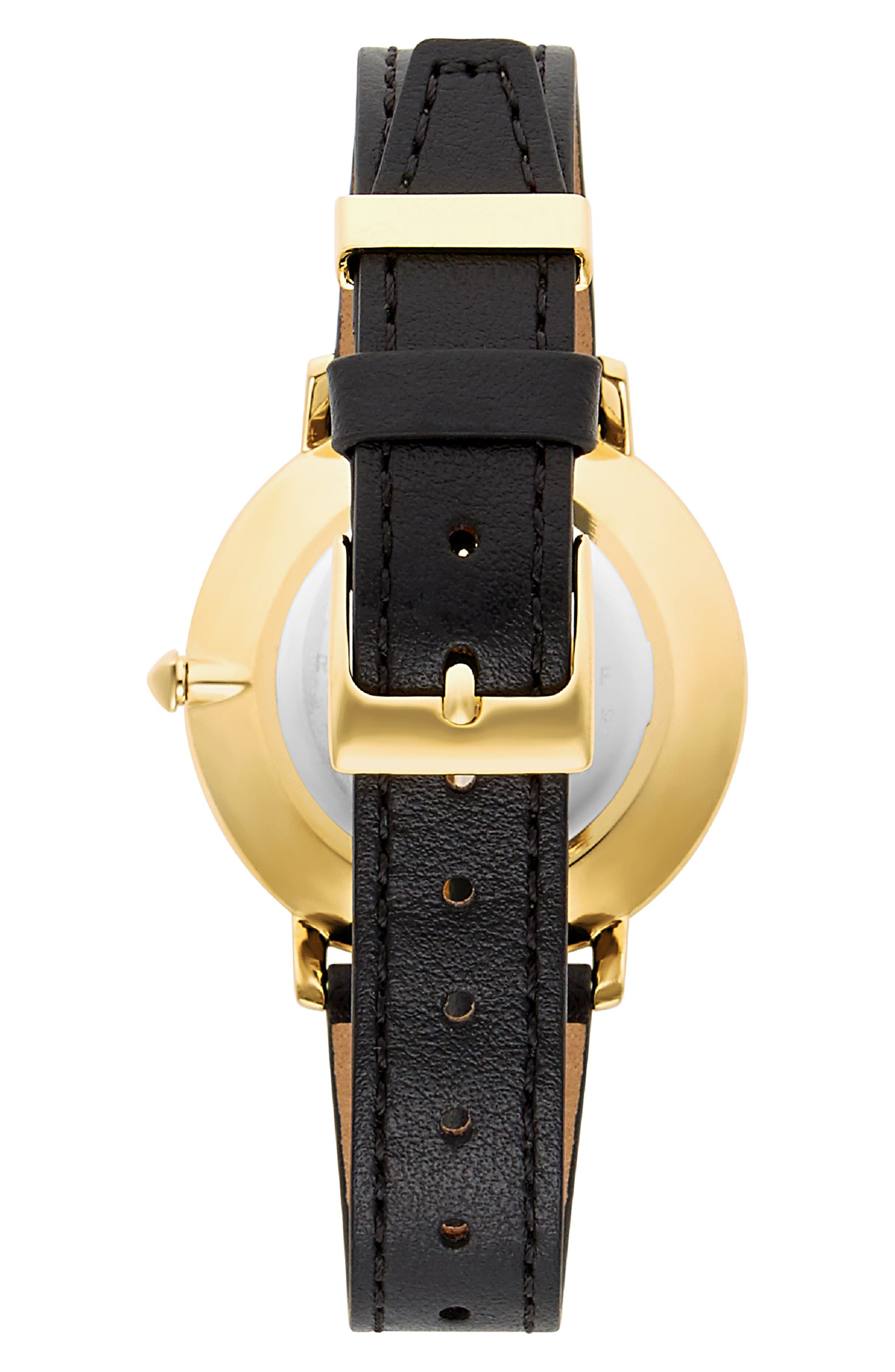 Major Leather Strap Watch, 35mm,                             Alternate thumbnail 2, color,                             001
