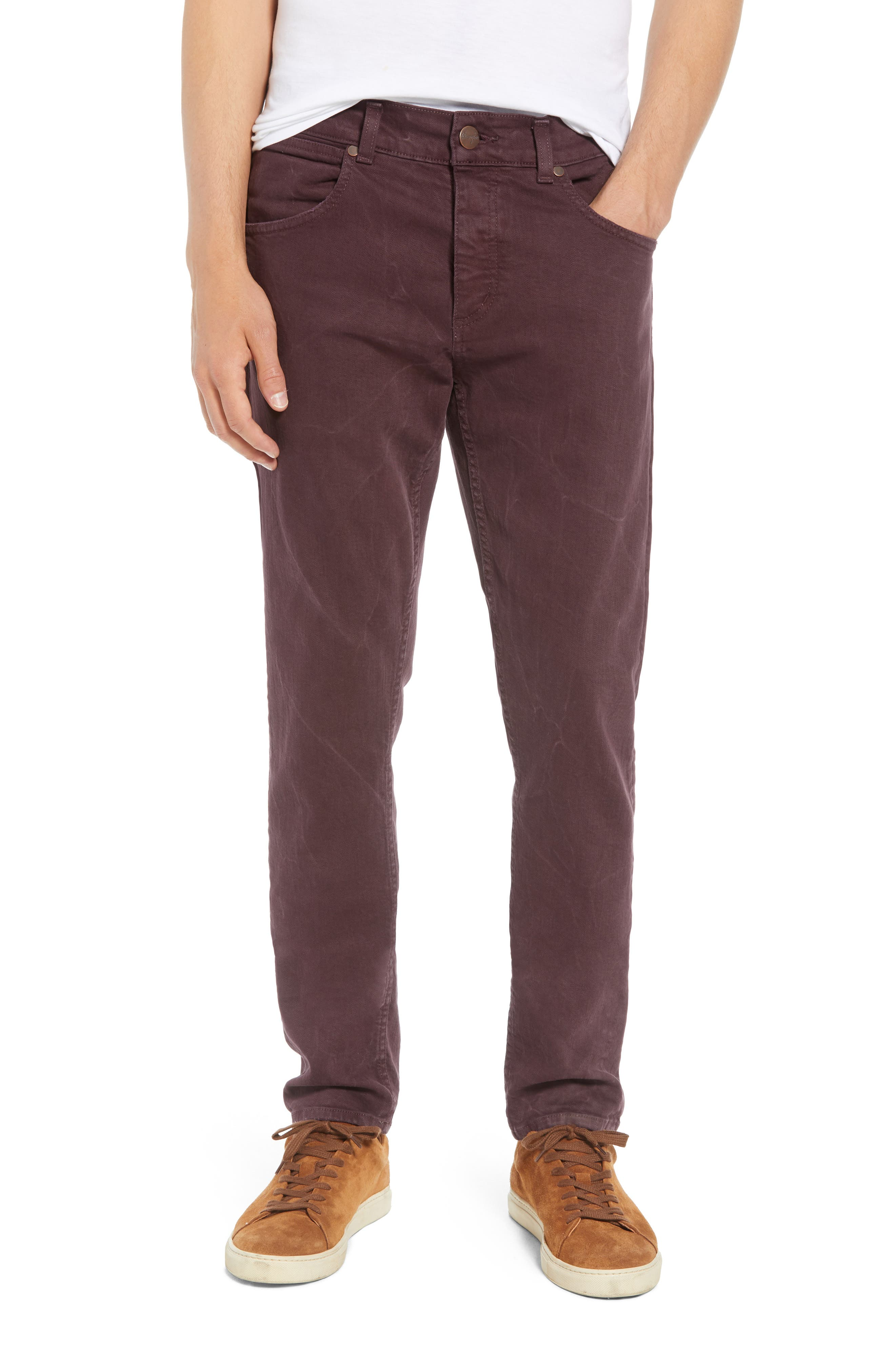 Larston Slim Fit Jeans,                             Main thumbnail 1, color,                             AUBERGINE