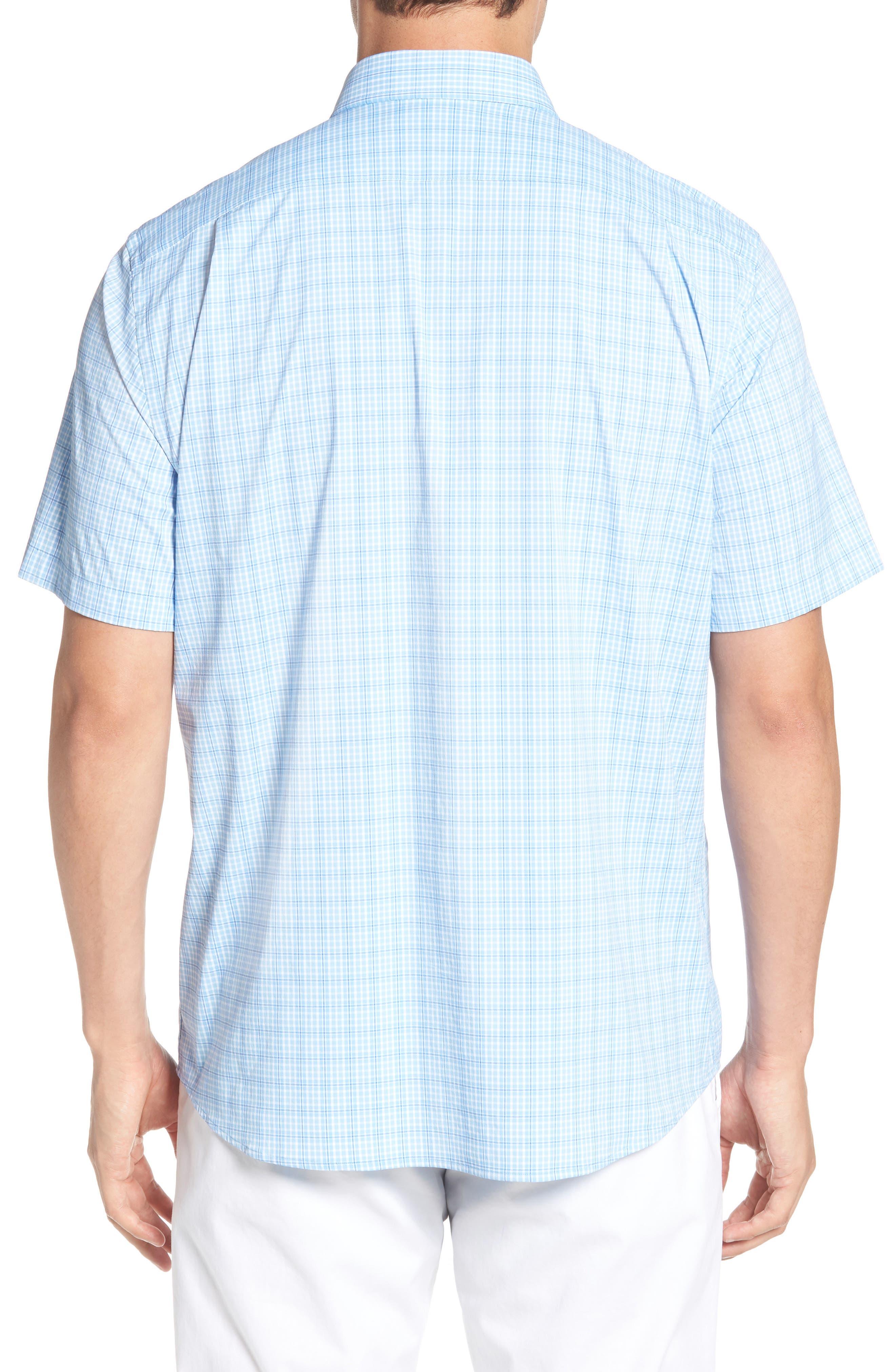 Nautical Mile Regular Fit Plaid Performance Sport Shirt,                             Alternate thumbnail 3, color,