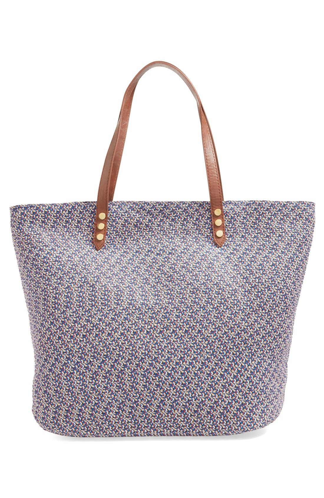 Woven Straw Tote,                             Alternate thumbnail 5, color,                             440