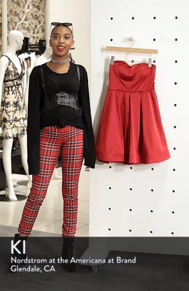 Satin Removable Strap Party Dress, sales video thumbnail