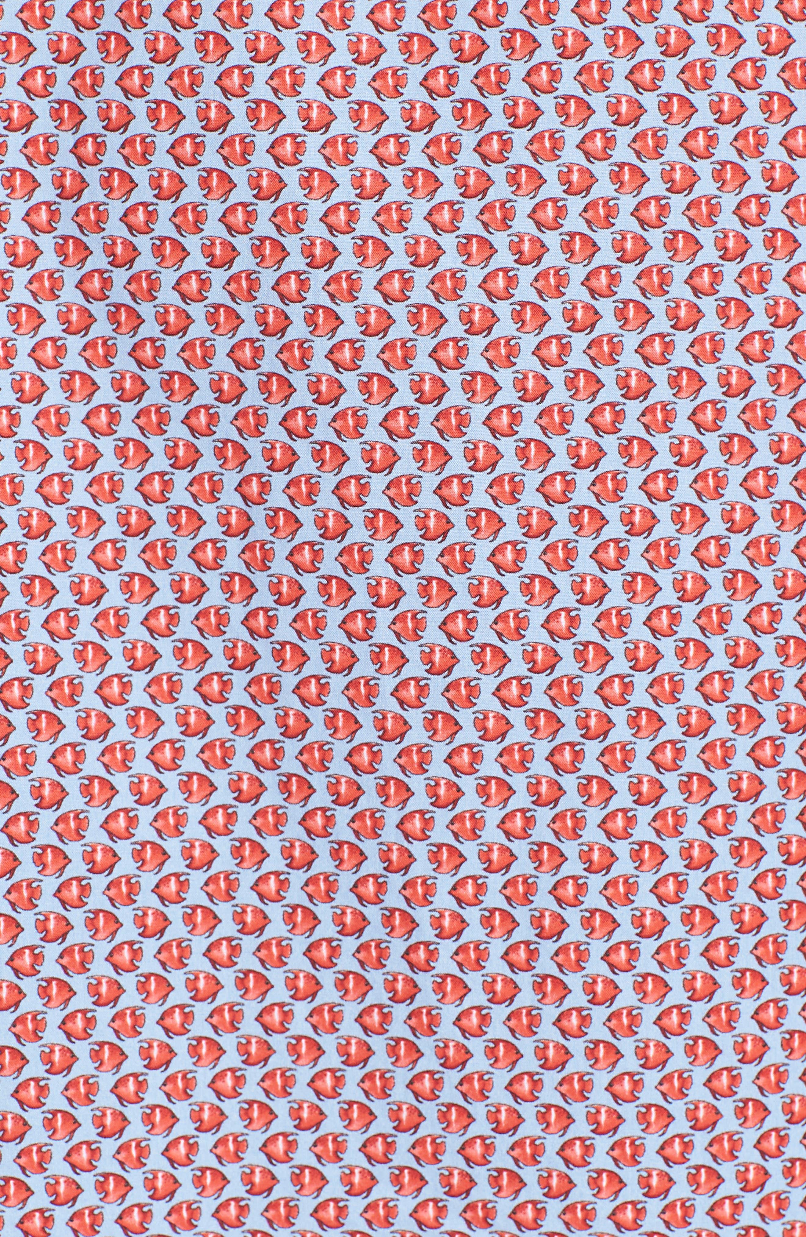 Premium Slim Fit Print Sport Shirt,                             Alternate thumbnail 5, color,                             600