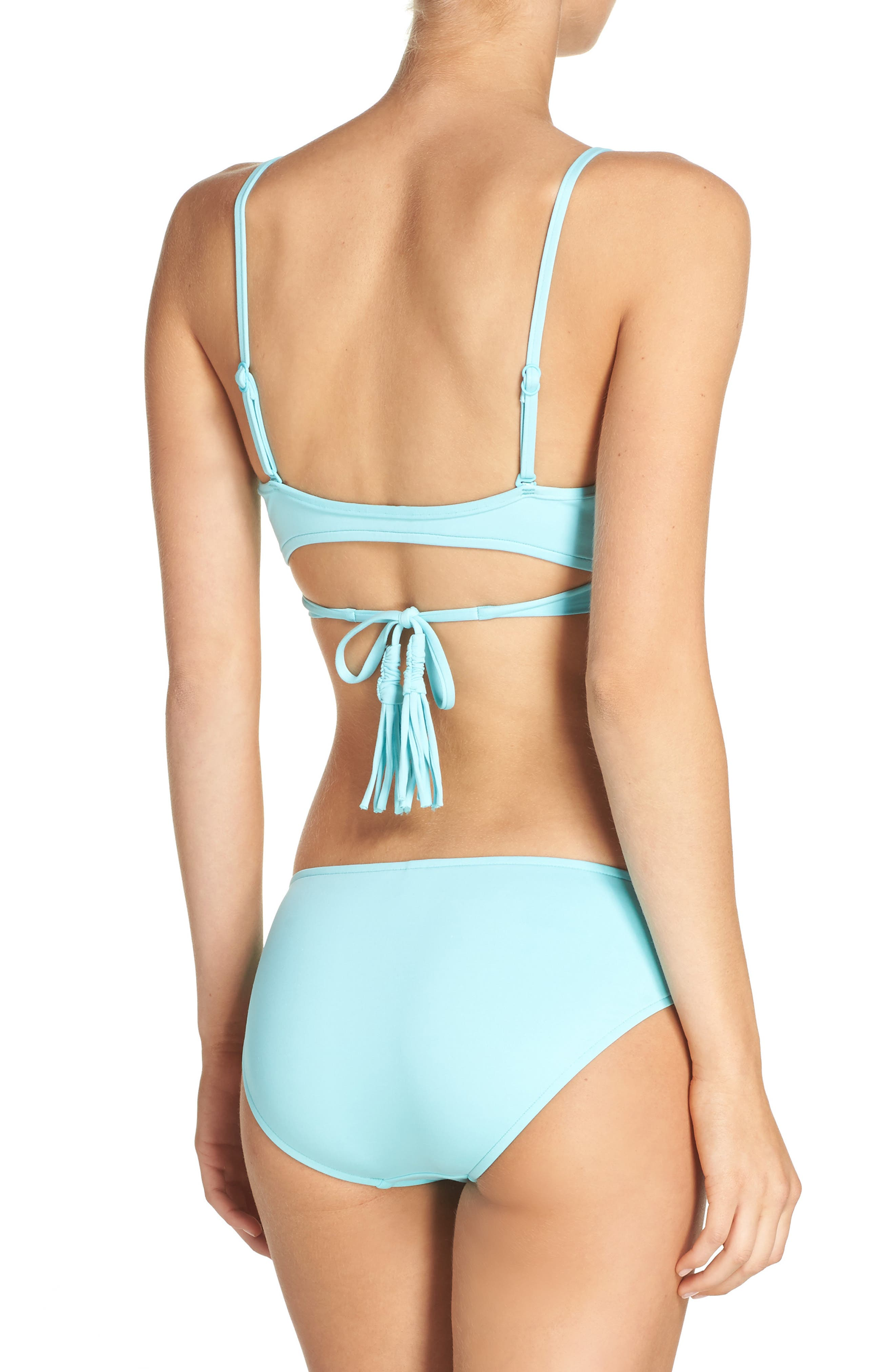 Wrap Bikini Top,                             Alternate thumbnail 19, color,