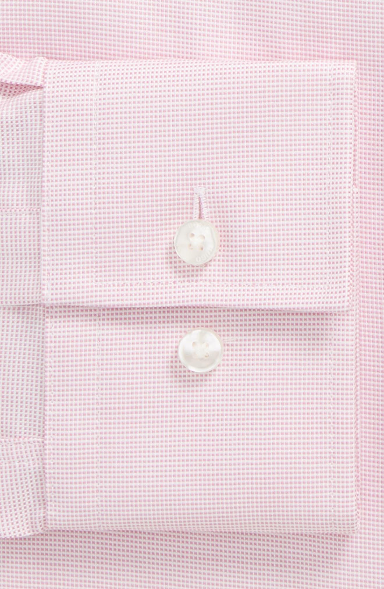 Jenno Slim Fit Solid Dress Shirt,                             Alternate thumbnail 4, color,