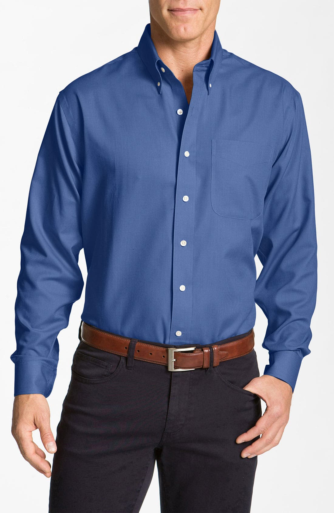 Nailshead - Epic Easy Care Classic Fit Sport Shirt,                         Main,                         color, FRENCH BLUE