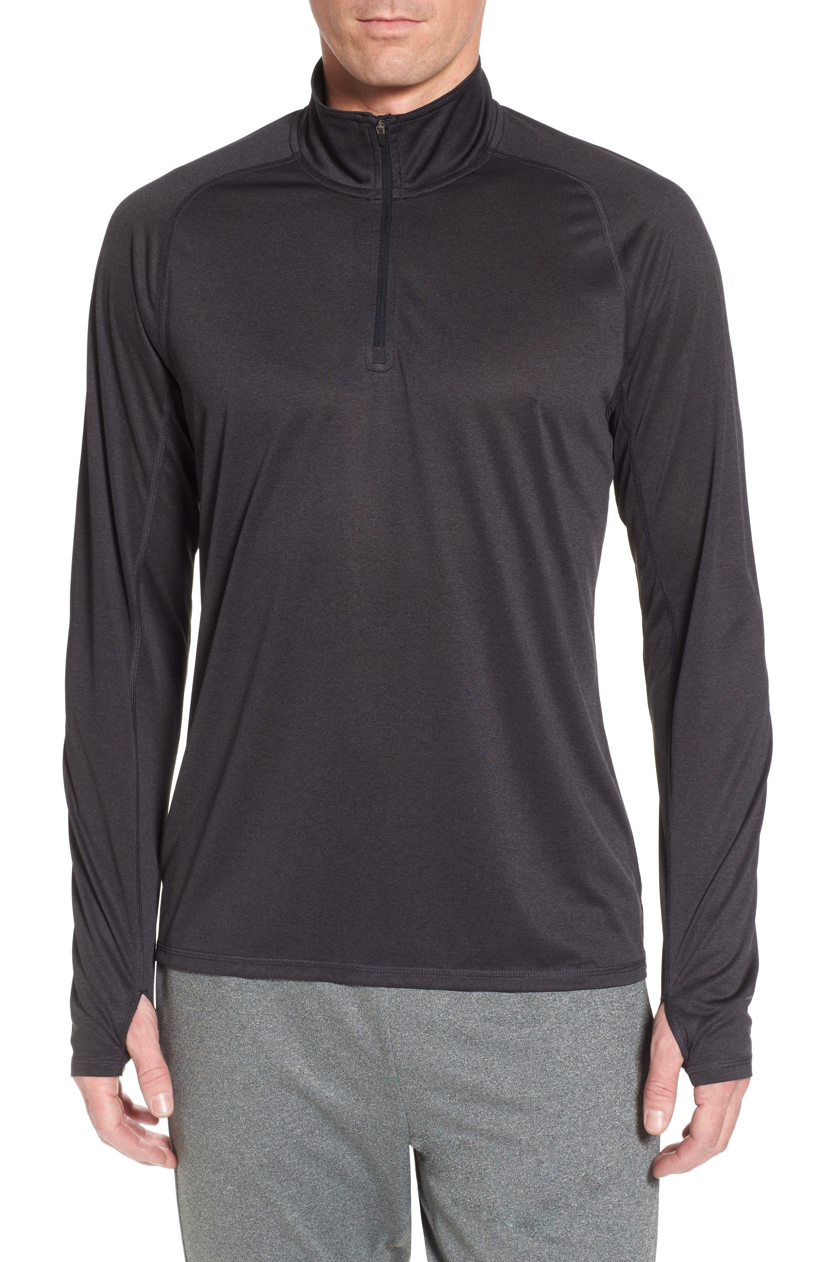 Jordanite Quarter Zip Pullover,                             Main thumbnail 1, color,                             001
