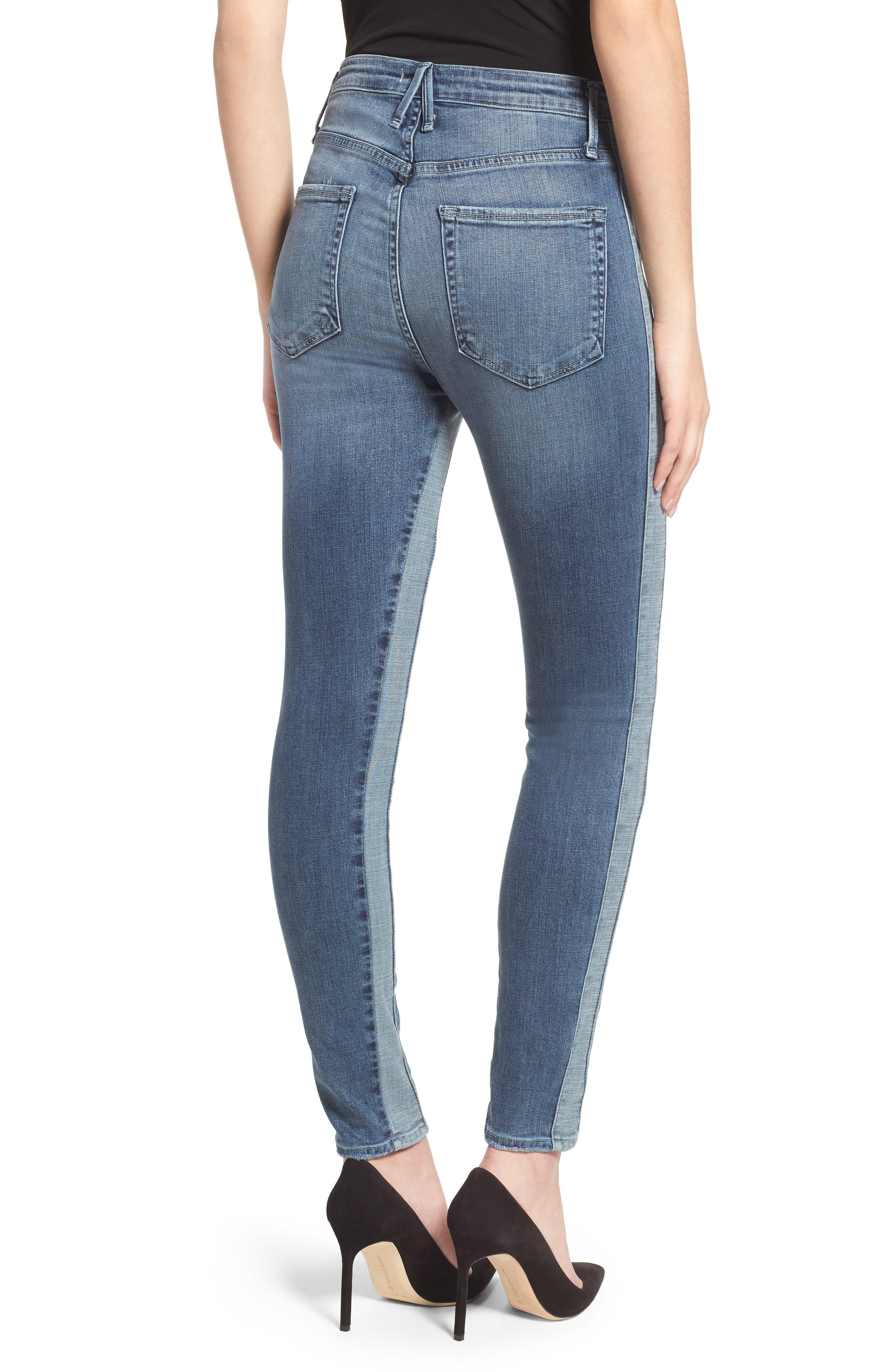 Good Waist Piecing High Waist Skinny Jeans,                             Alternate thumbnail 2, color,                             401