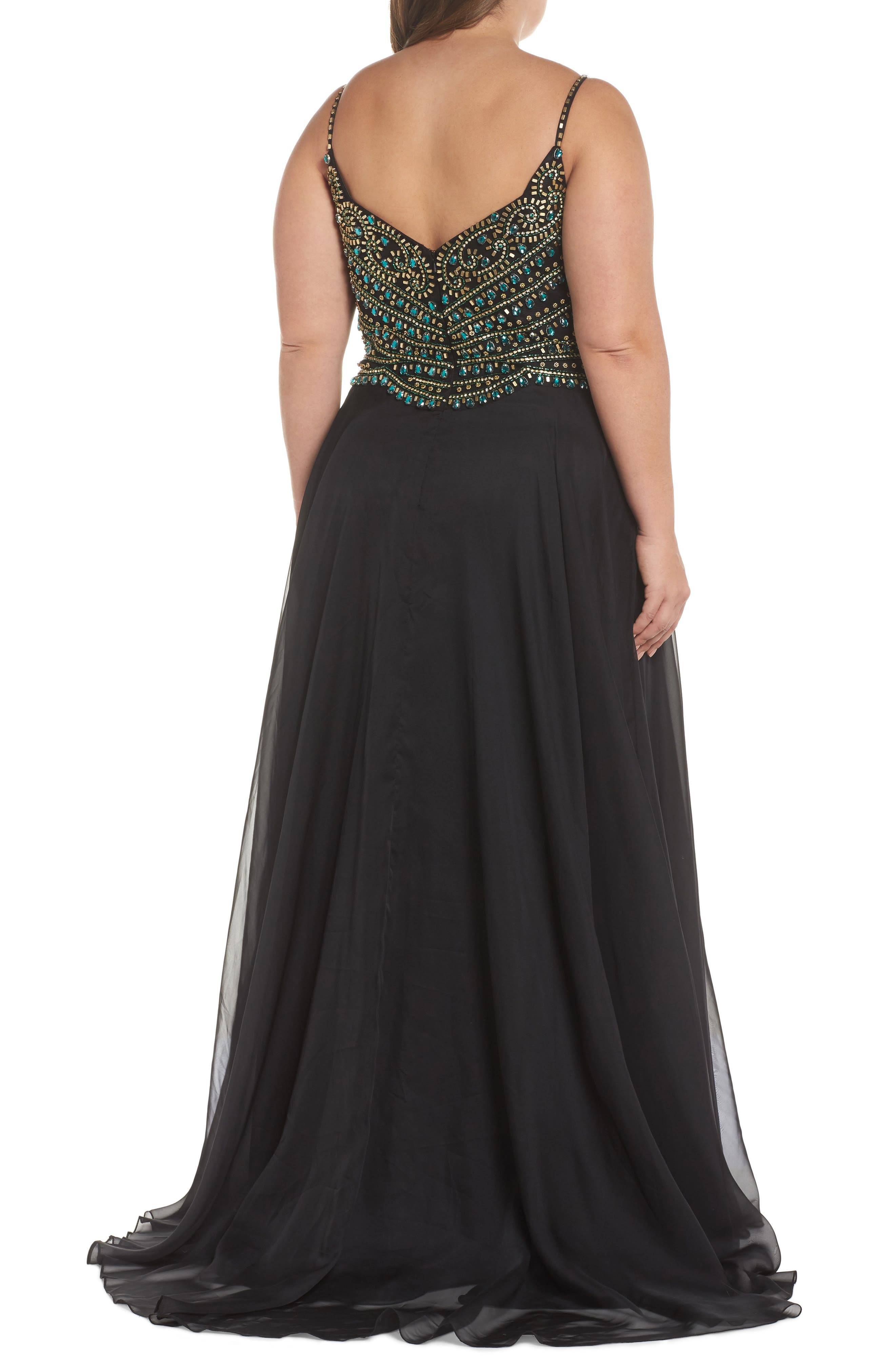 Embellished Gown,                             Alternate thumbnail 2, color,                             001