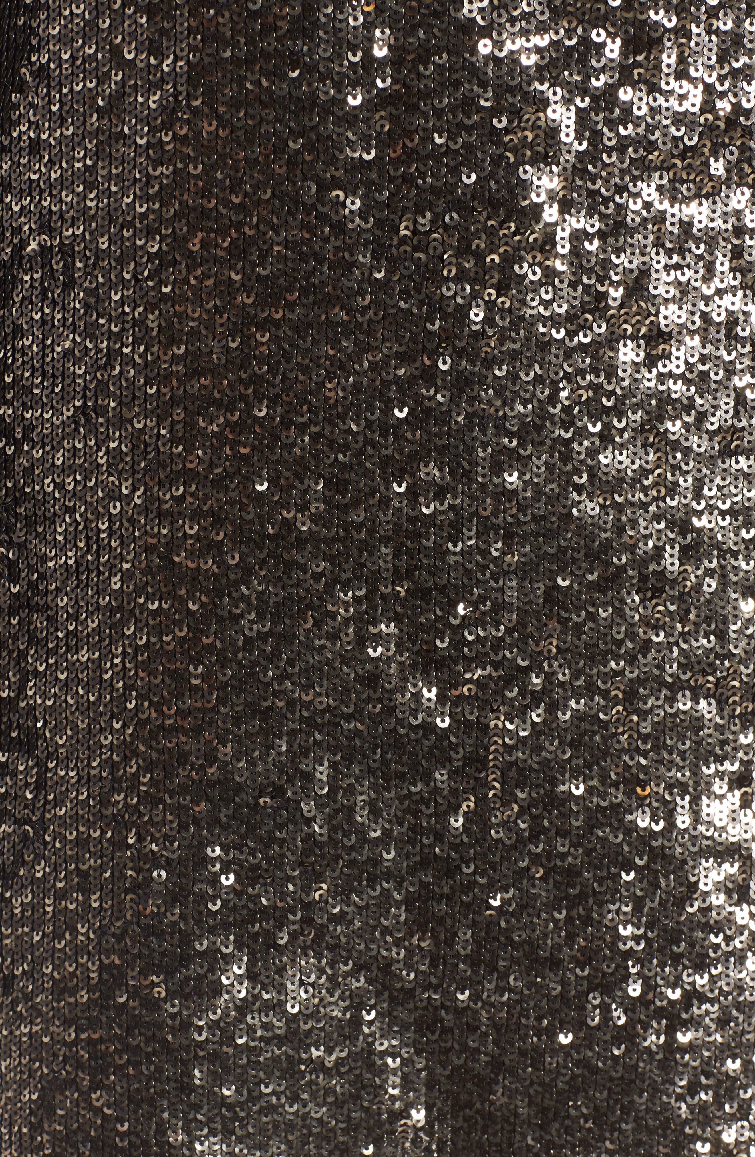 Sequin Shift Dress,                             Alternate thumbnail 5, color,                             042