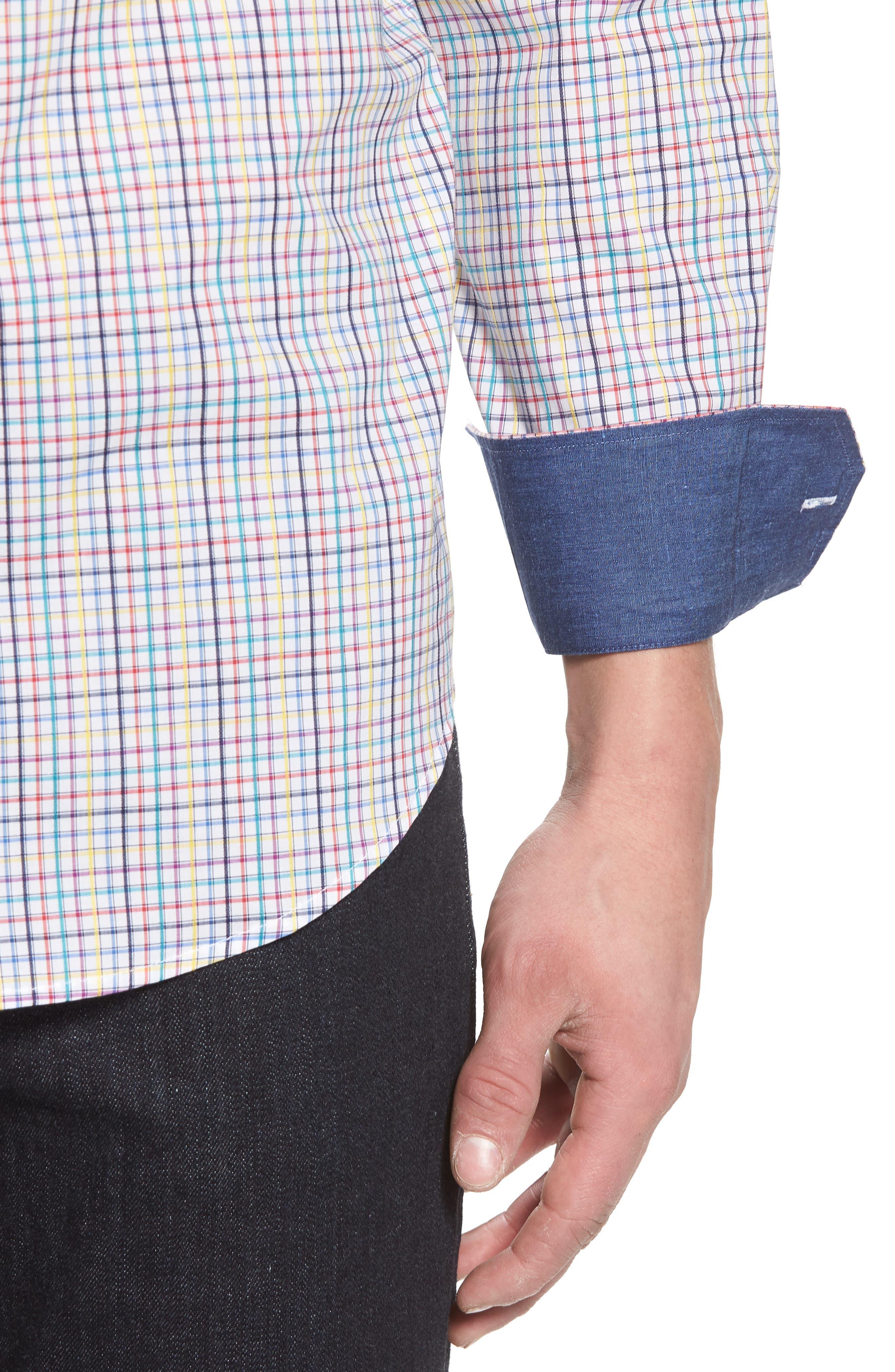 Classic Fit Woven Sport Shirt,                             Alternate thumbnail 4, color,                             601