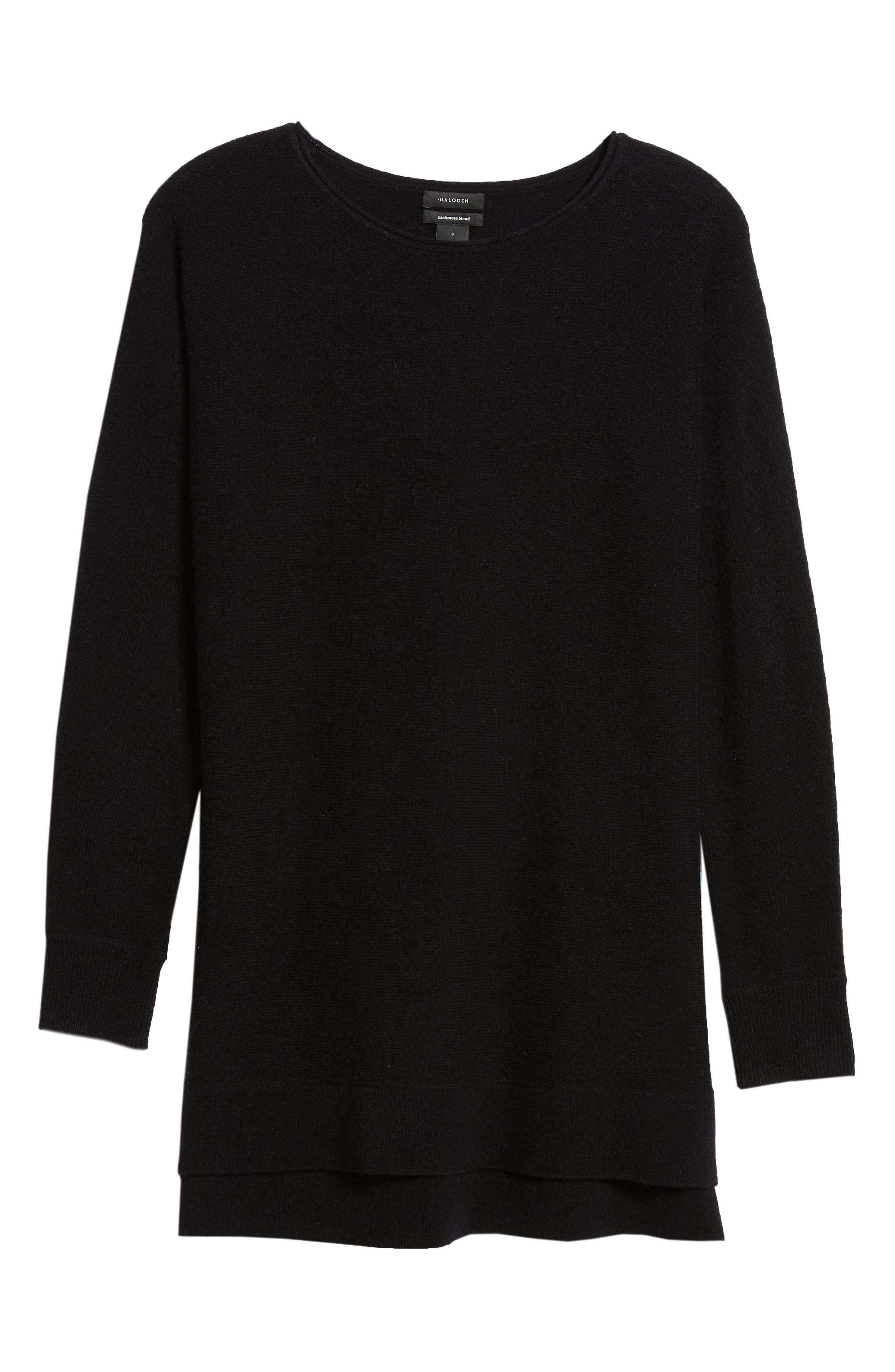 High/Low Wool & Cashmere Tunic Sweater,                             Alternate thumbnail 103, color,